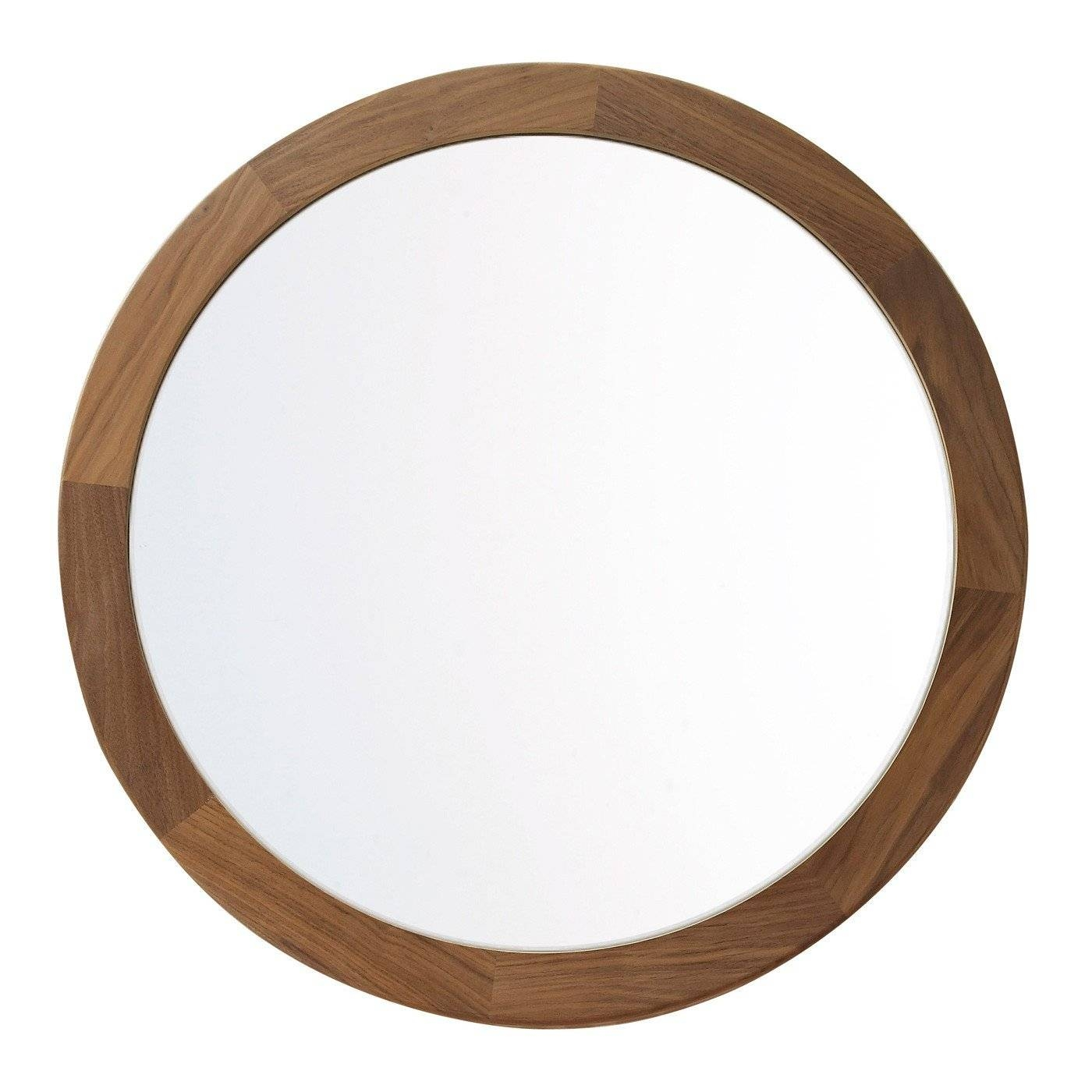 Heal's Walnut Frame Round Mirror Intended For Black Round Mirrors (View 10 of 25)