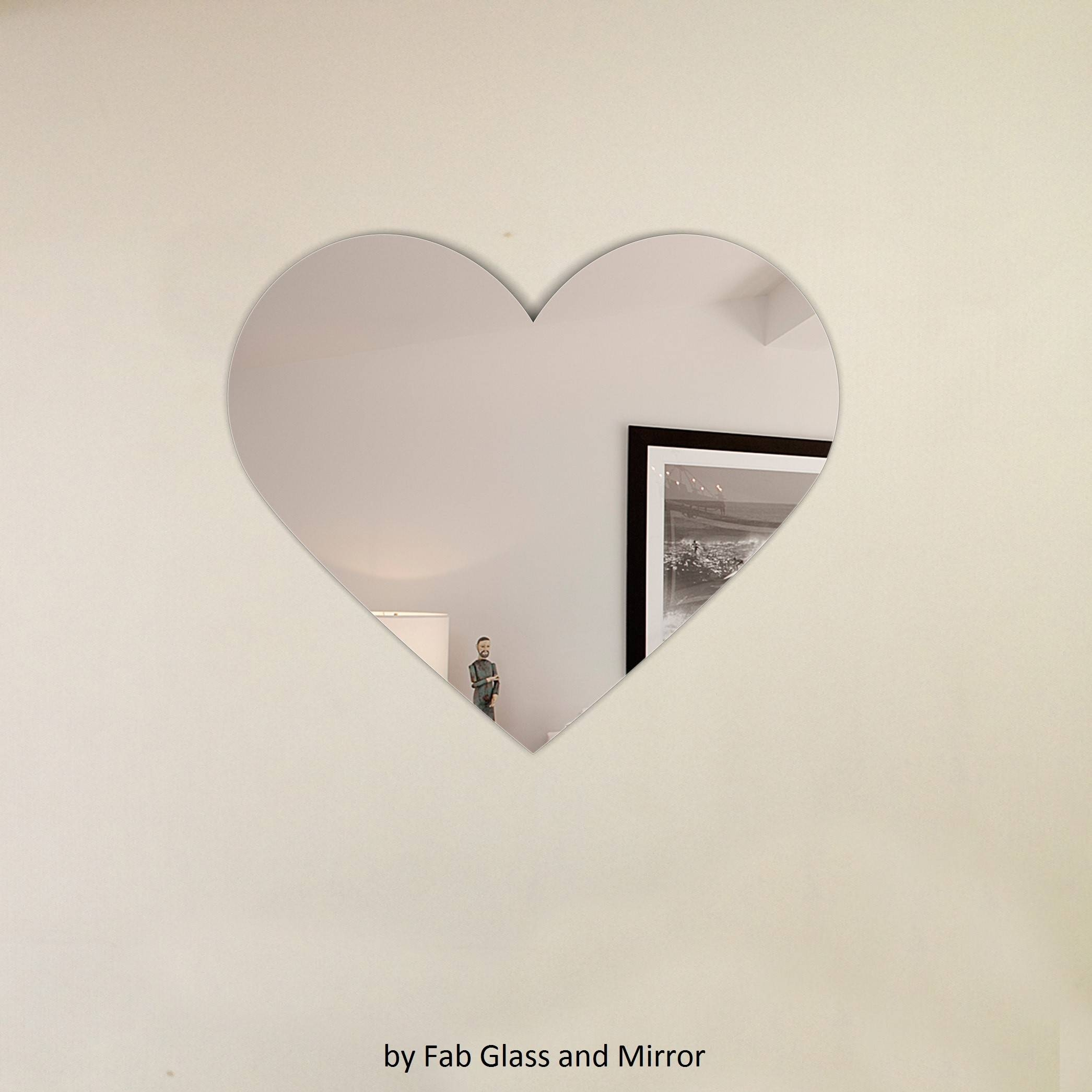Heart Shape Frameless Wall Mirror With Hooks throughout Heart Shaped Mirrors For Wall (Image 3 of 25)