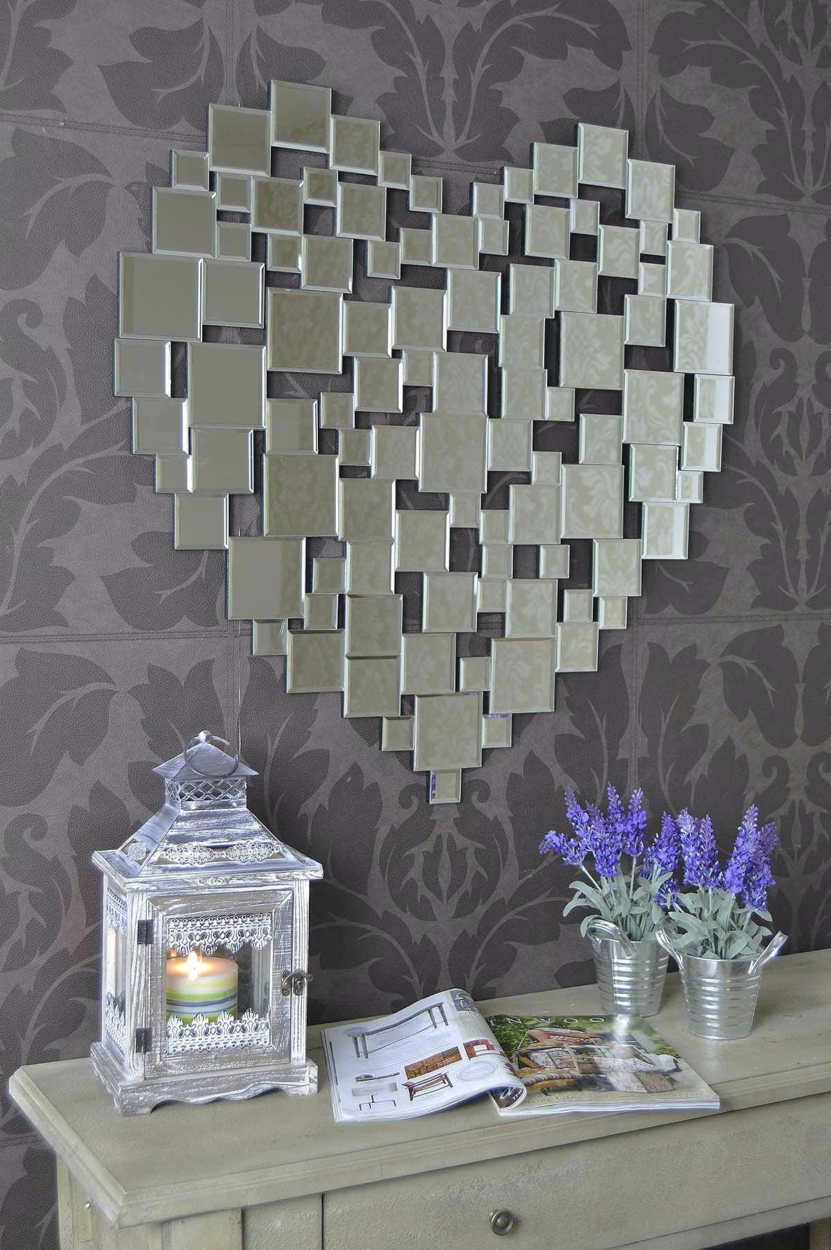 Heart Shape Venetian Wall Mirror 2Ft8 80Cm Lightbox Moreviewlarge with Venetian Wall Mirrors (Image 10 of 25)