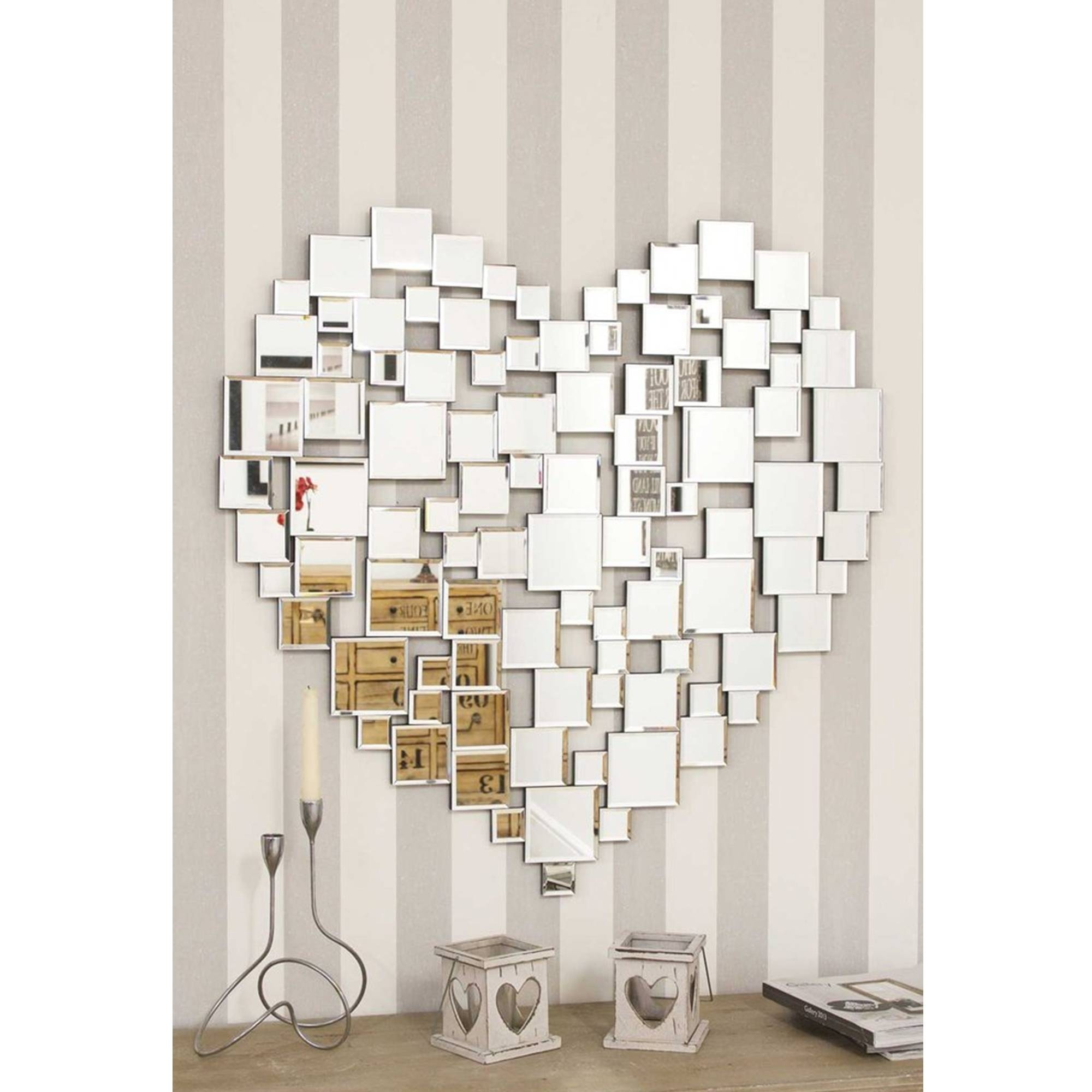 Heart Shape Venetian Wall Mirror | Glass Mirrors Online for Venetian Heart Mirrors (Image 14 of 25)