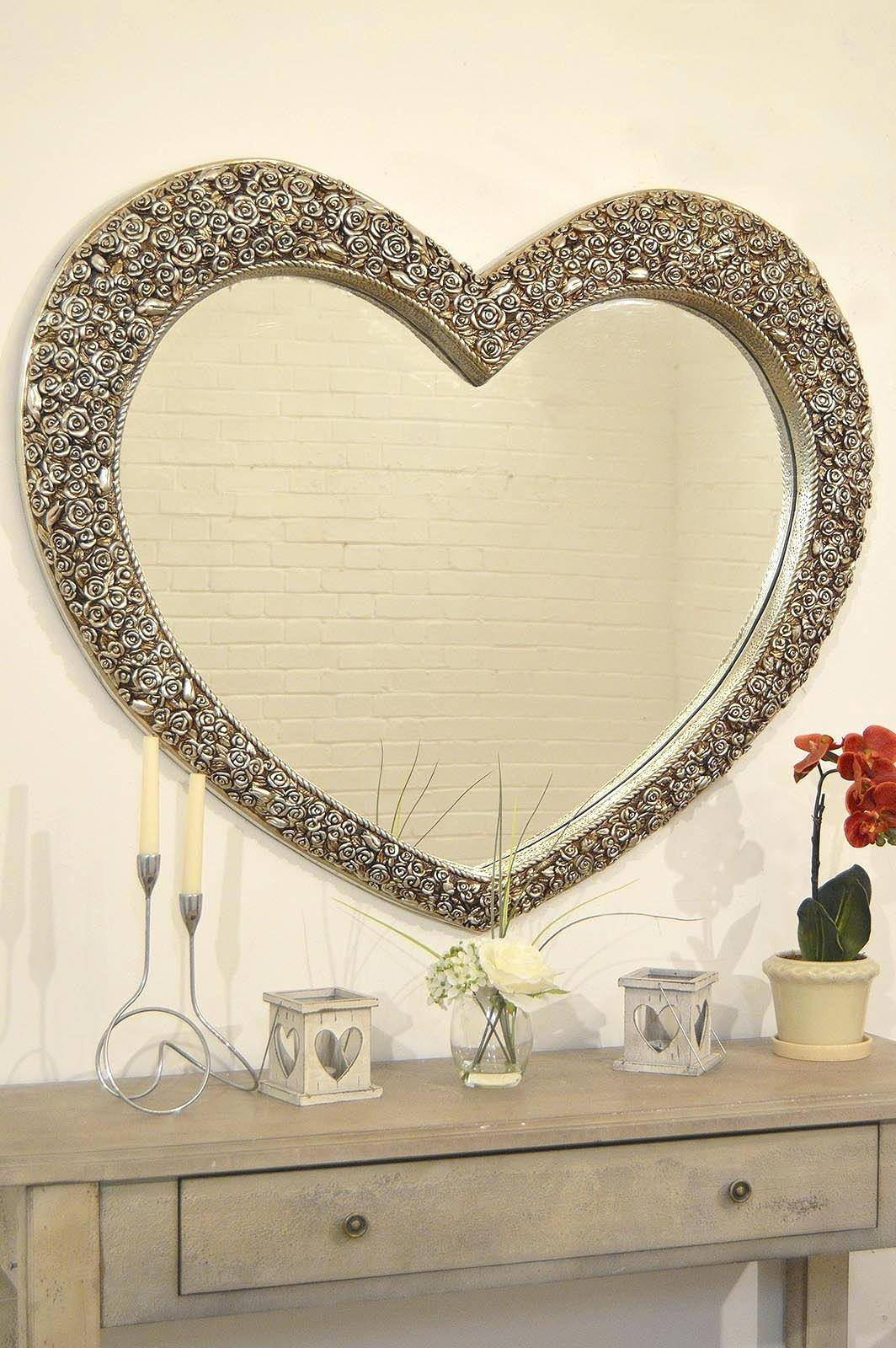 Heart Shaped Angel Wings Wall Mirrorheart Mirrors Uk Venetian intended for Heart Venetian Mirrors (Image 16 of 25)