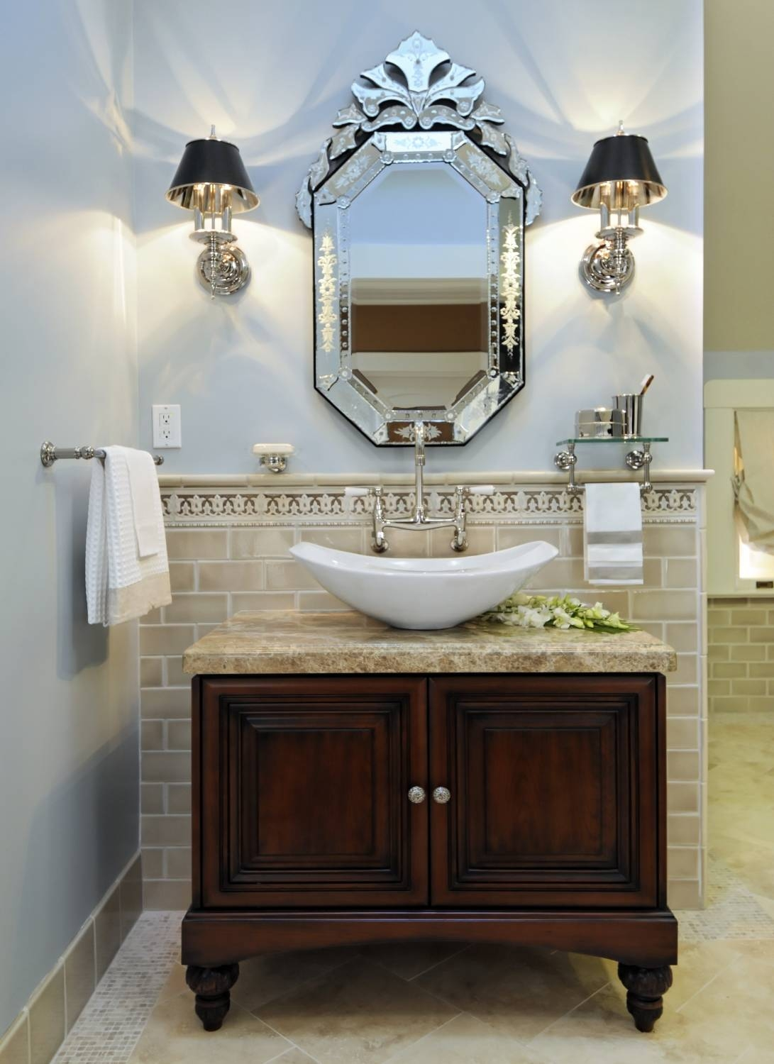 Featured Photo of Venetian Bathroom Mirrors