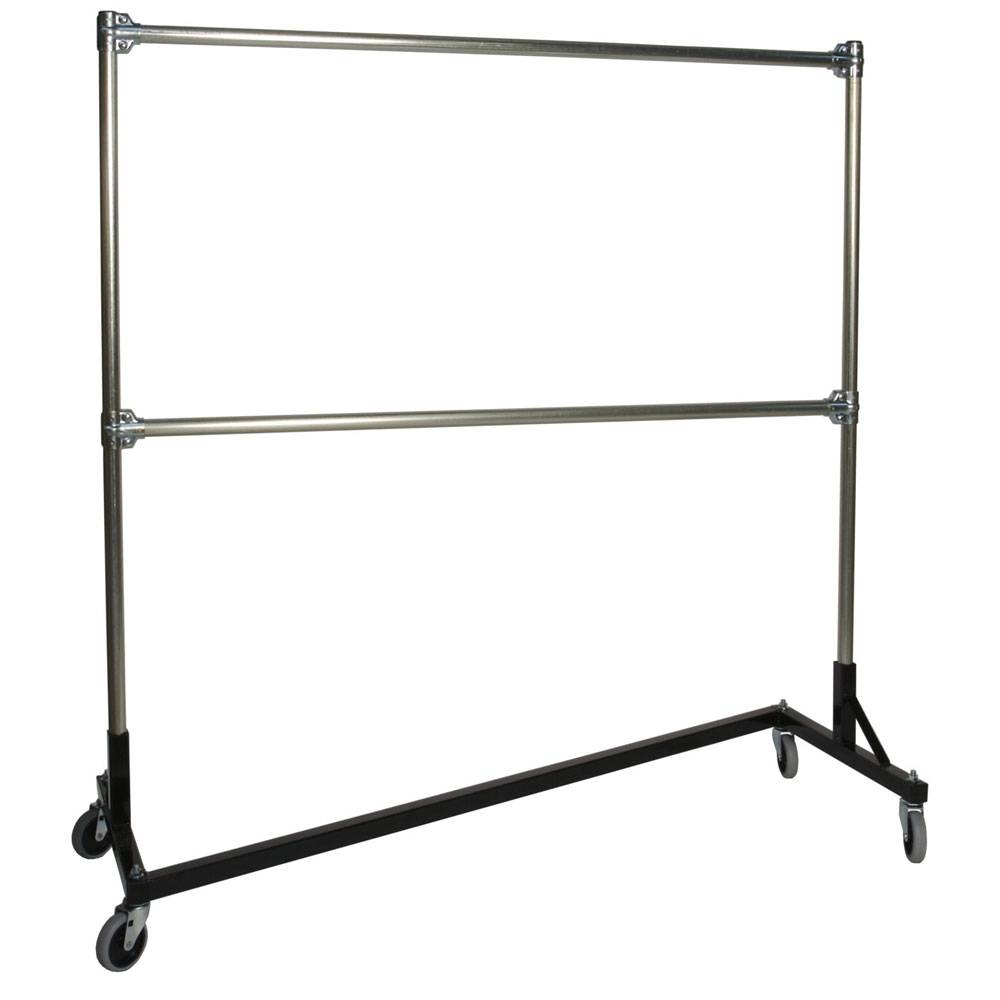 Heavy Duty Portable Clothes Rack - 5Ft Double Rail In Clothing intended for Double Rail White Wardrobes (Image 8 of 21)