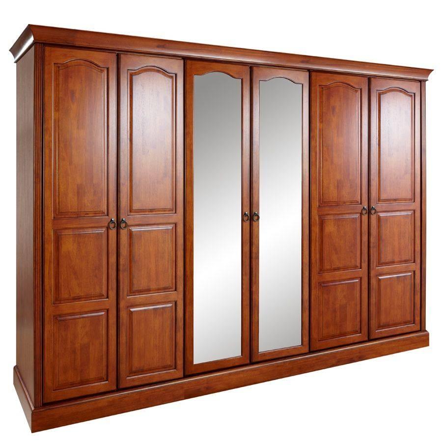 Heirloom Oak 6 Door Wardrobe | Uk Deliverythebedroomplace.co (View 6 of 15)