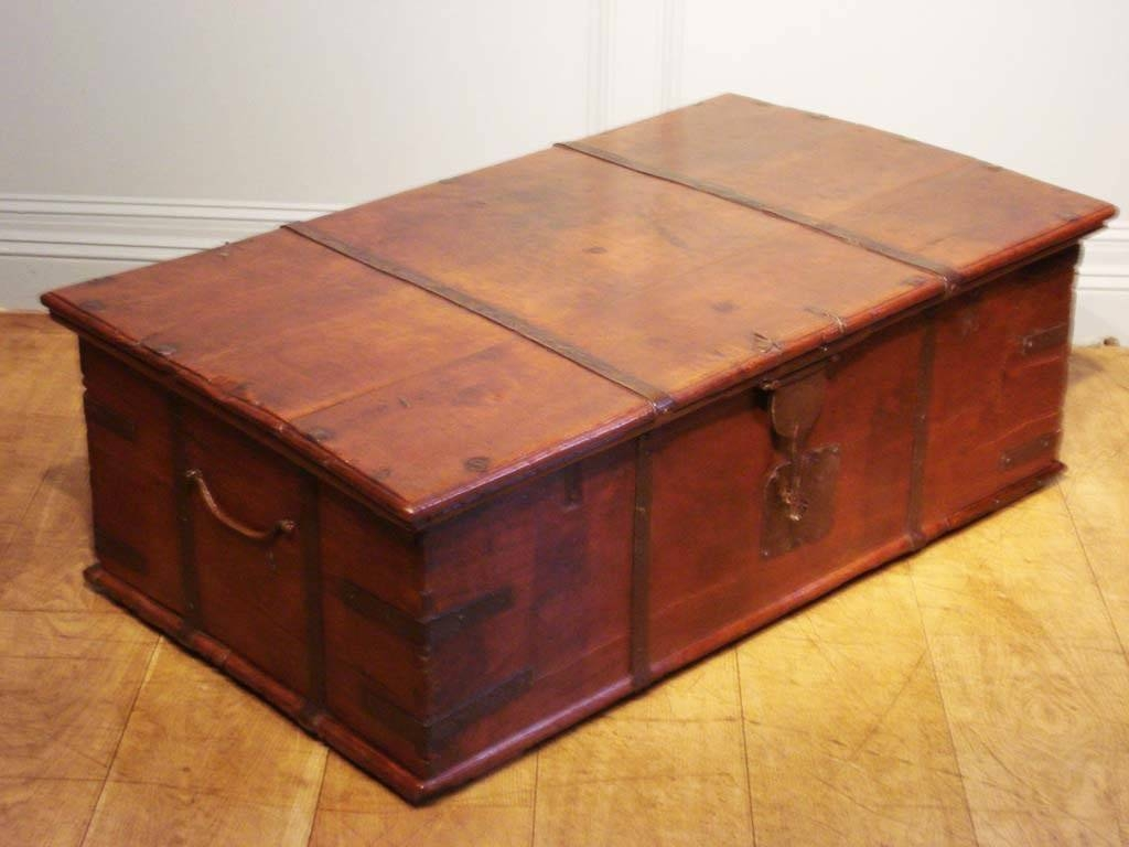 Heiß Coffee Table With Storage Ottomans Round Pedestal Decorative within Dark Wood Chest Coffee Tables (Image 26 of 30)