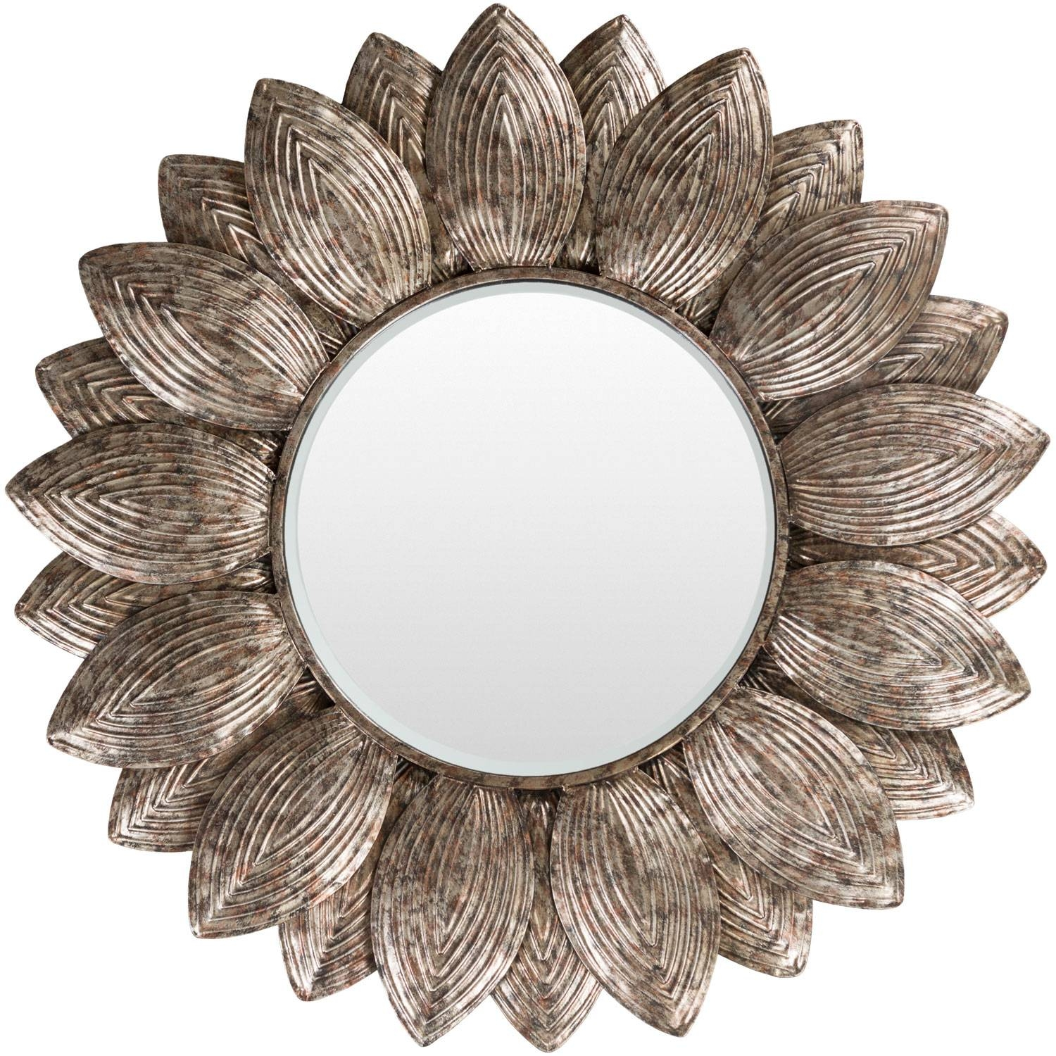 Helios Champagne Wall Mirror Surya Wall Mirror Mirrors Home Decor with Champagne Wall Mirrors (Image 10 of 25)