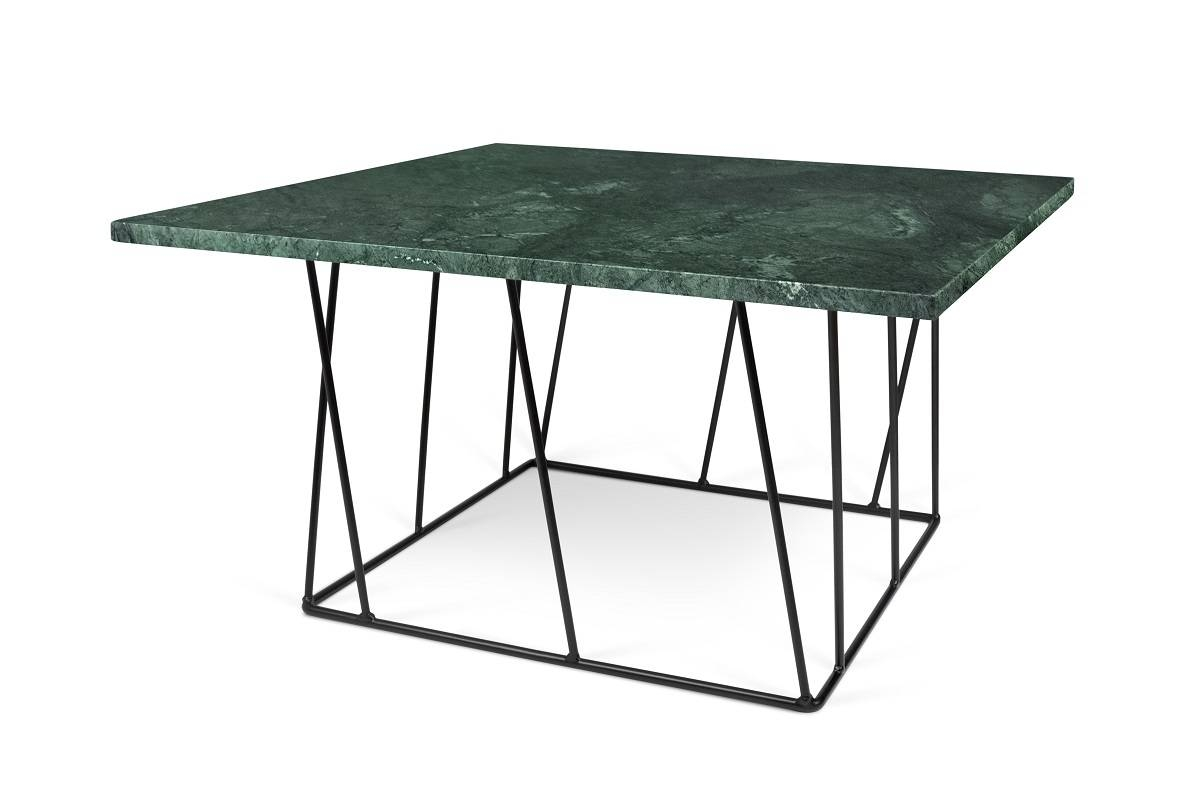 Helix Marble Coffee Table | Green | Black Lacquered Steel, Tema in Marble Coffee Tables (Image 17 of 30)