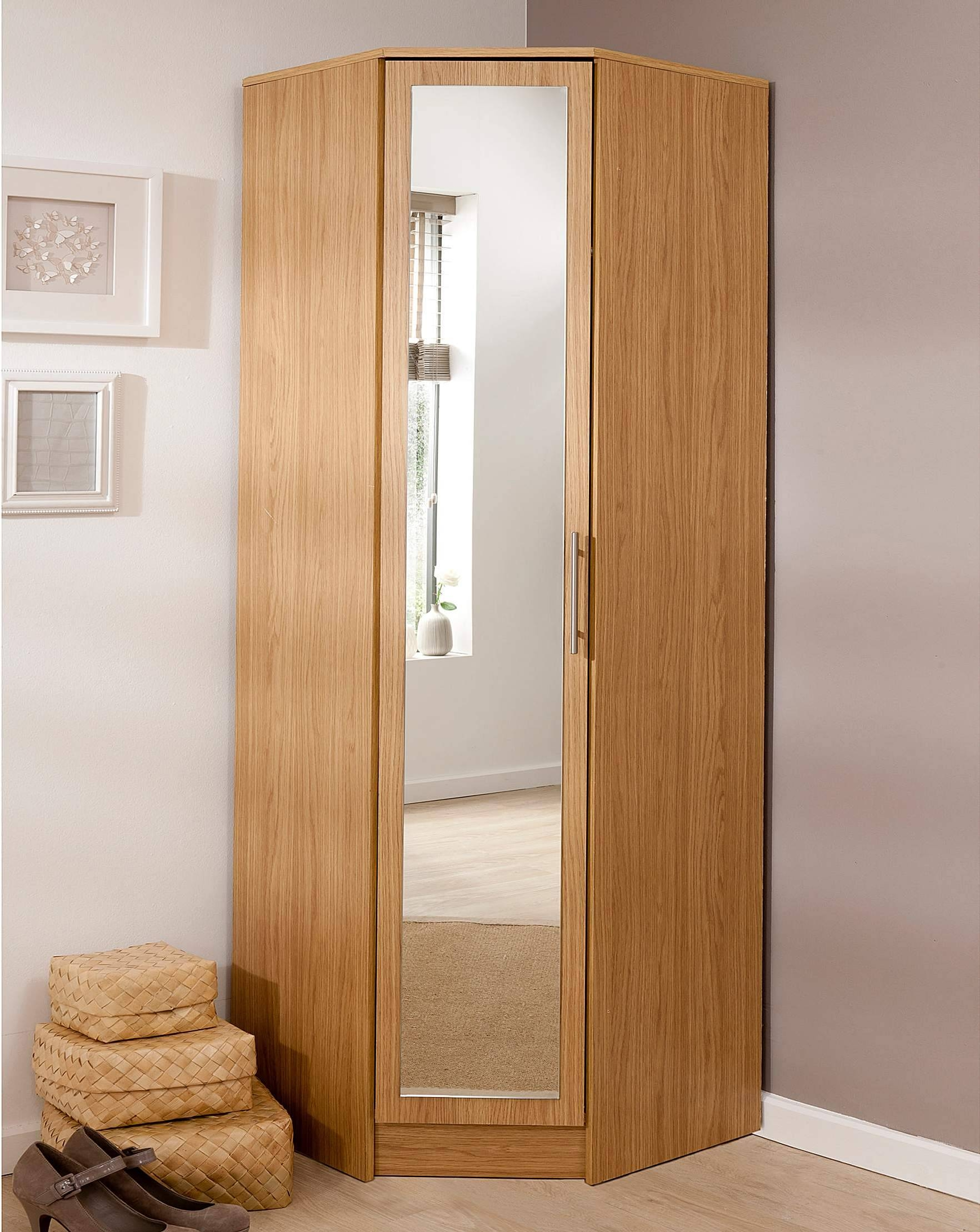 Helsinki Corner Wardrobe With Mirror | J D Williams with Cheap Corner Wardrobes (Image 12 of 15)