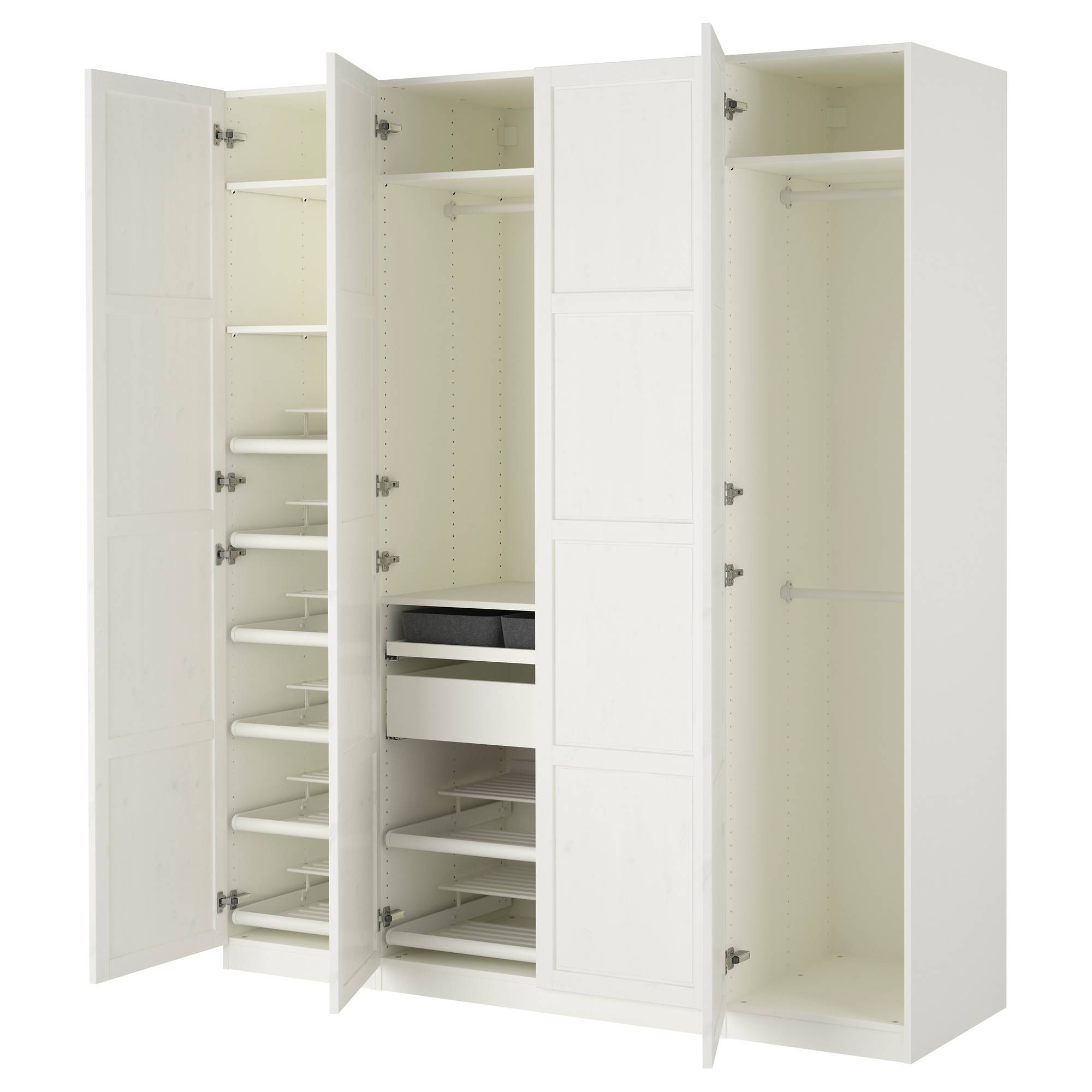 Hemnes Bedroom Series - Ikea throughout 3 Door Wardrobe With Drawers and Shelves (Image 15 of 30)