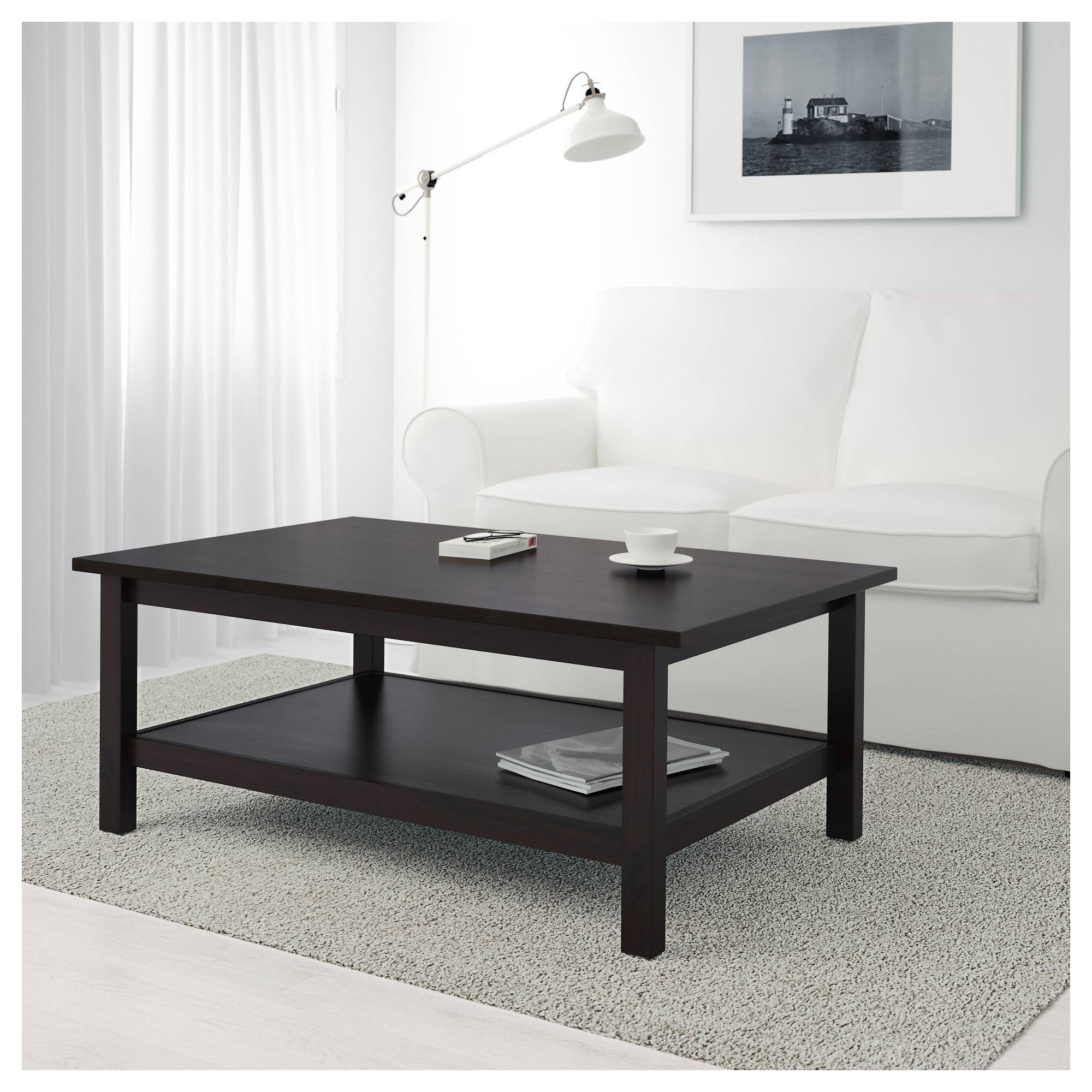 Hemnes Coffee Table - Black-Brown - Ikea within White And Brown Coffee Tables (Image 18 of 30)