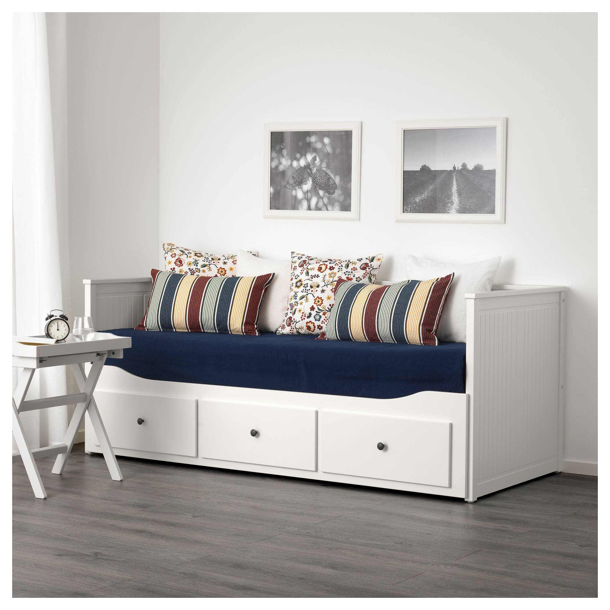 Hemnes Day-Bed W 3 Drawers/2 Mattresses White/moshult Firm 80X200 intended for Sofa Day Beds (Image 19 of 30)