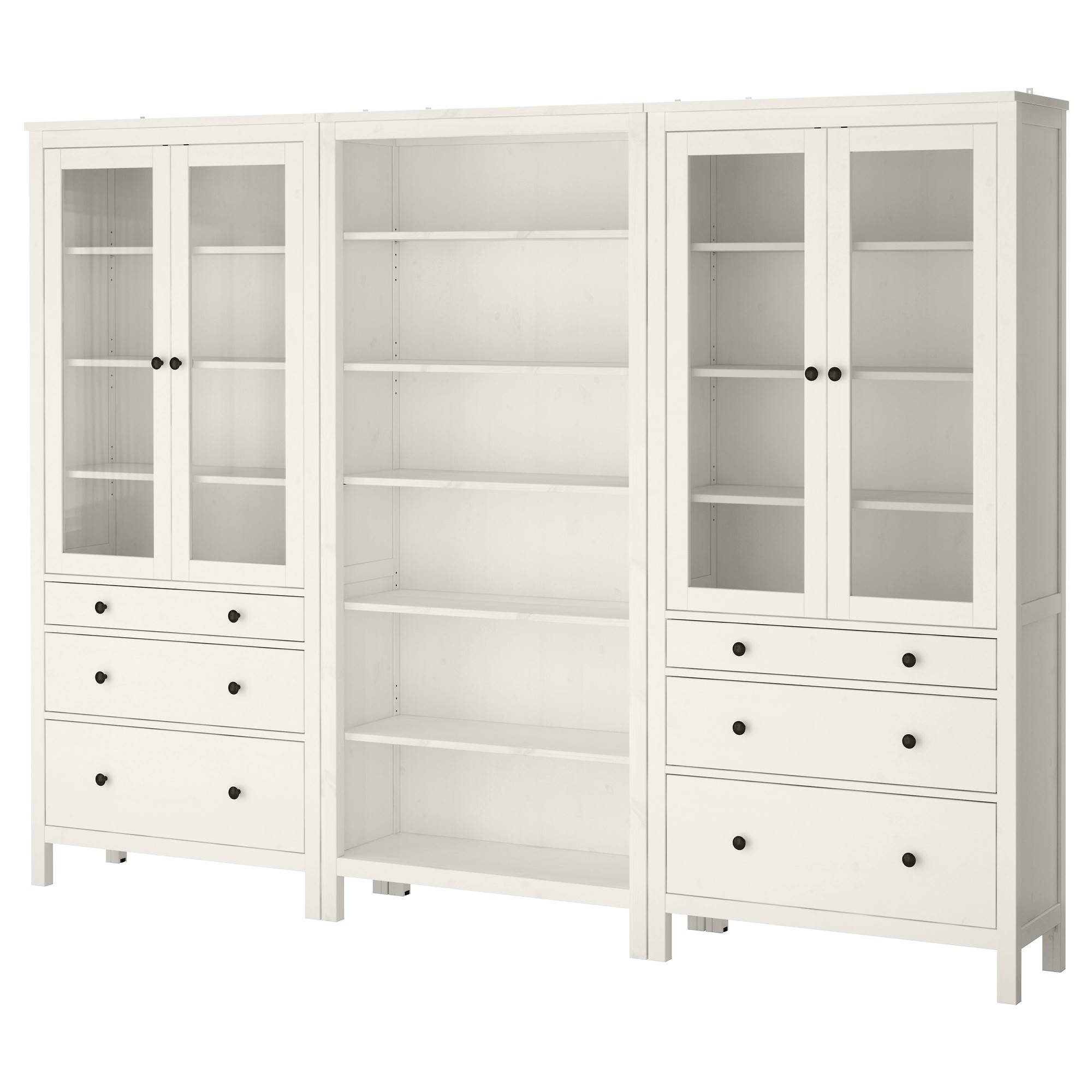 Hemnes Storage Combination W Doors/drawers - White Stain - Ikea pertaining to Wardrobe Drawers And Shelves Ikea (Image 14 of 30)