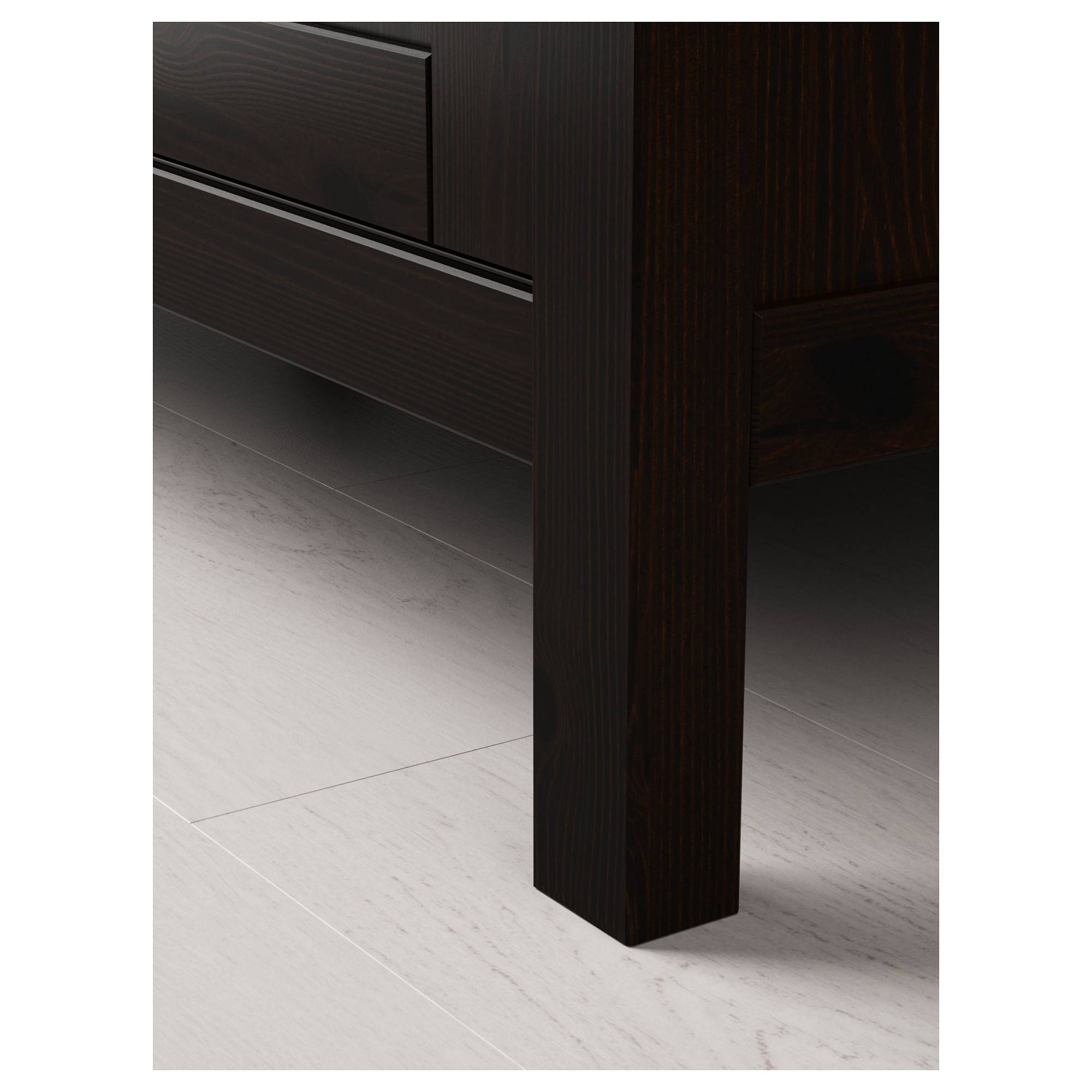 Hemnes Wardrobe With 2 Sliding Doors - Black-Brown - Ikea with Black Sliding Wardrobes (Image 4 of 15)