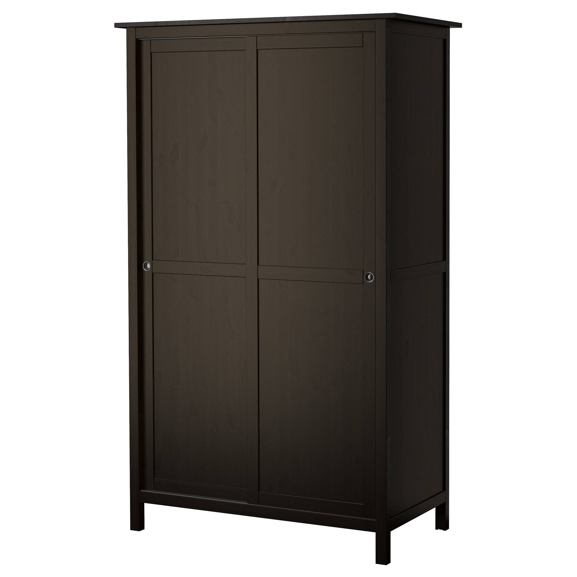 Hemnes Wardrobe With 2 Sliding Doors - Yellow - Ikea for Wardrobe With Shelves and Drawers (Image 14 of 30)