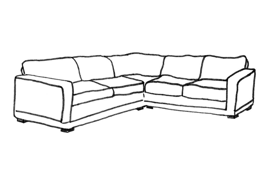 Henley 2 X 2 Seater Corner Sofa - Corner Sofas - Products with 2X2 Corner Sofas (Image 16 of 30)