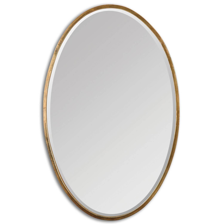 Herleva Oval Antique Gold Oval Mirror Uttermost Wall Mirror For Oval Mirrors For Walls (View 15 of 25)