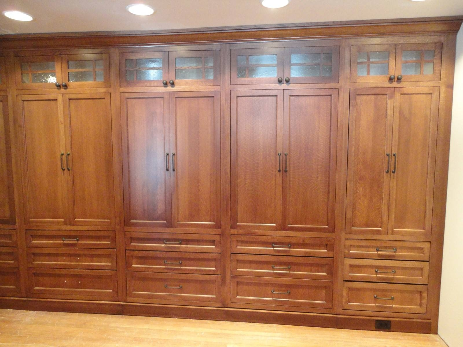 High Cream Wooden Wardrobe With Sliding Door Also Shelves Inside for Wardrobe With Drawers And Shelves (Image 17 of 30)