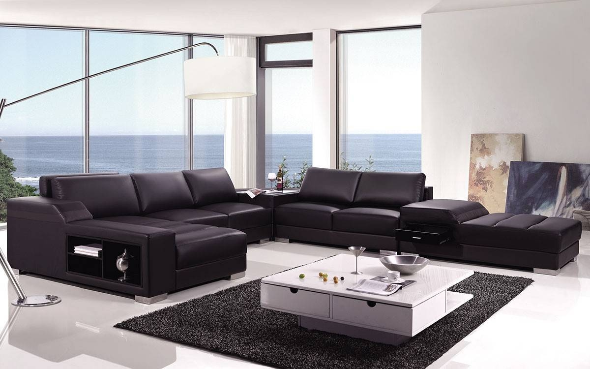 High End Covered In Bonded Leather Sectional Philadelphia throughout High End Leather Sectional Sofa (Image 7 of 25)
