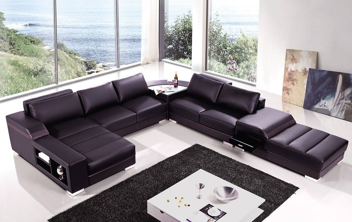 High End Covered In Bonded Leather Sectional Philadelphia with High End Sofa (Image 6 of 30)