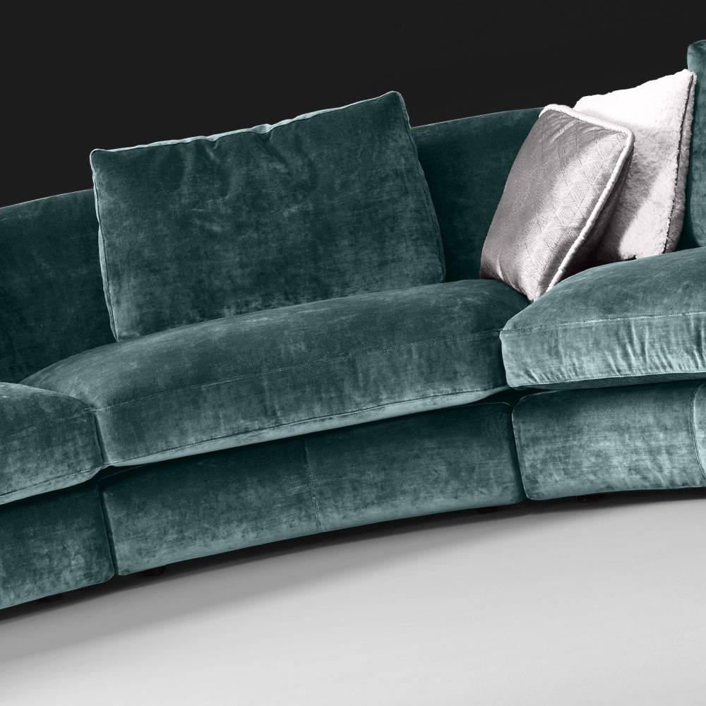 High End Large Velvet Modular Corner Sofa | Juliettes Interiors for High End Sofa (Image 8 of 30)