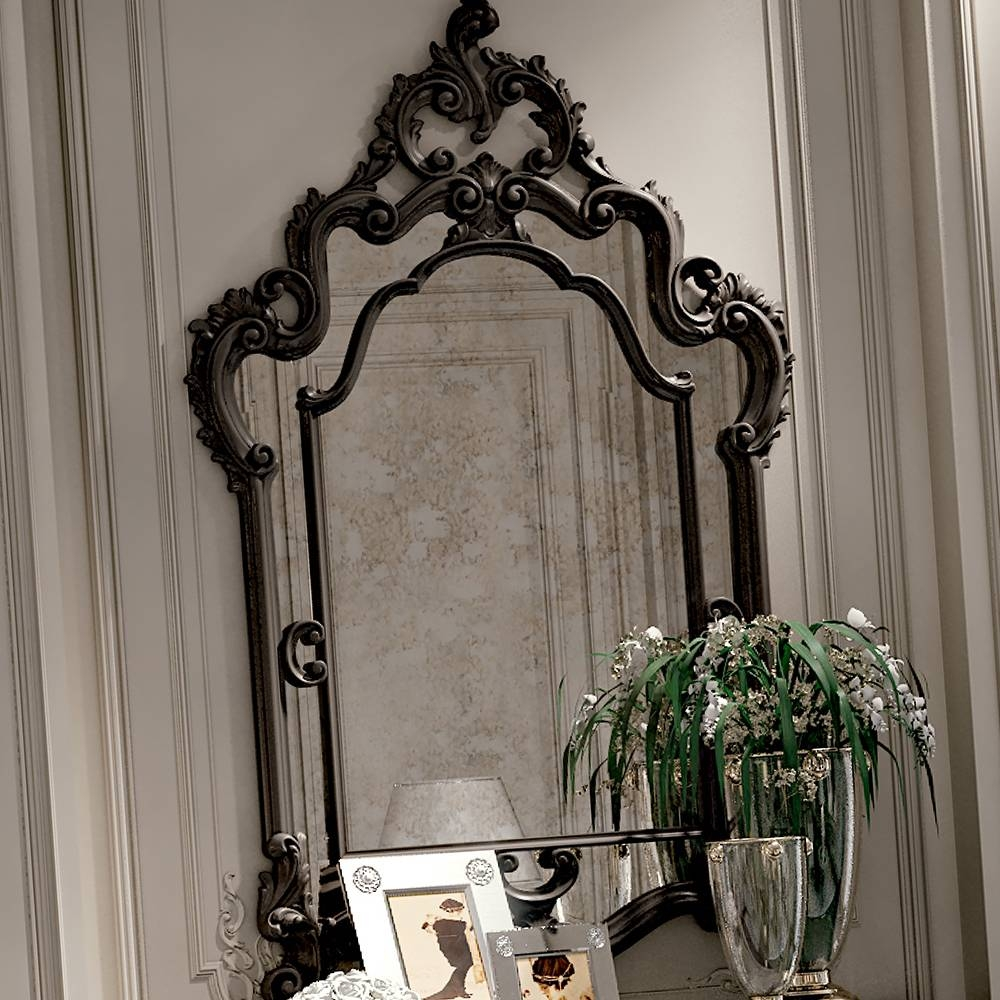 High End Reproduction Black Baroque Mirror | Juliettes Interiors for Black Baroque Mirrors (Image 17 of 25)