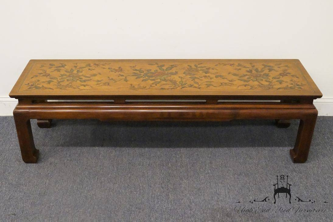 High End Used Furniture | Drexel Heritage Et Cetera Floral Asian throughout Heritage Coffee Tables (Image 21 of 30)
