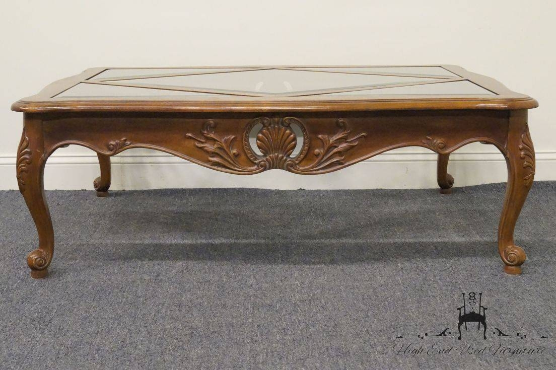 High End Used Furniture | Ethan Allen Country French 50″ Coffee Table With Country French Coffee Tables (View 24 of 30)