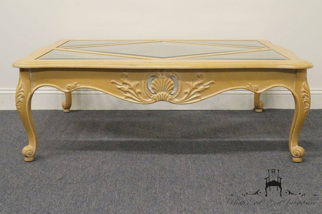 High End Used Furniture | Ethan Allen Country French 50″ Coffee throughout Country French Coffee Tables (Image 25 of 30)