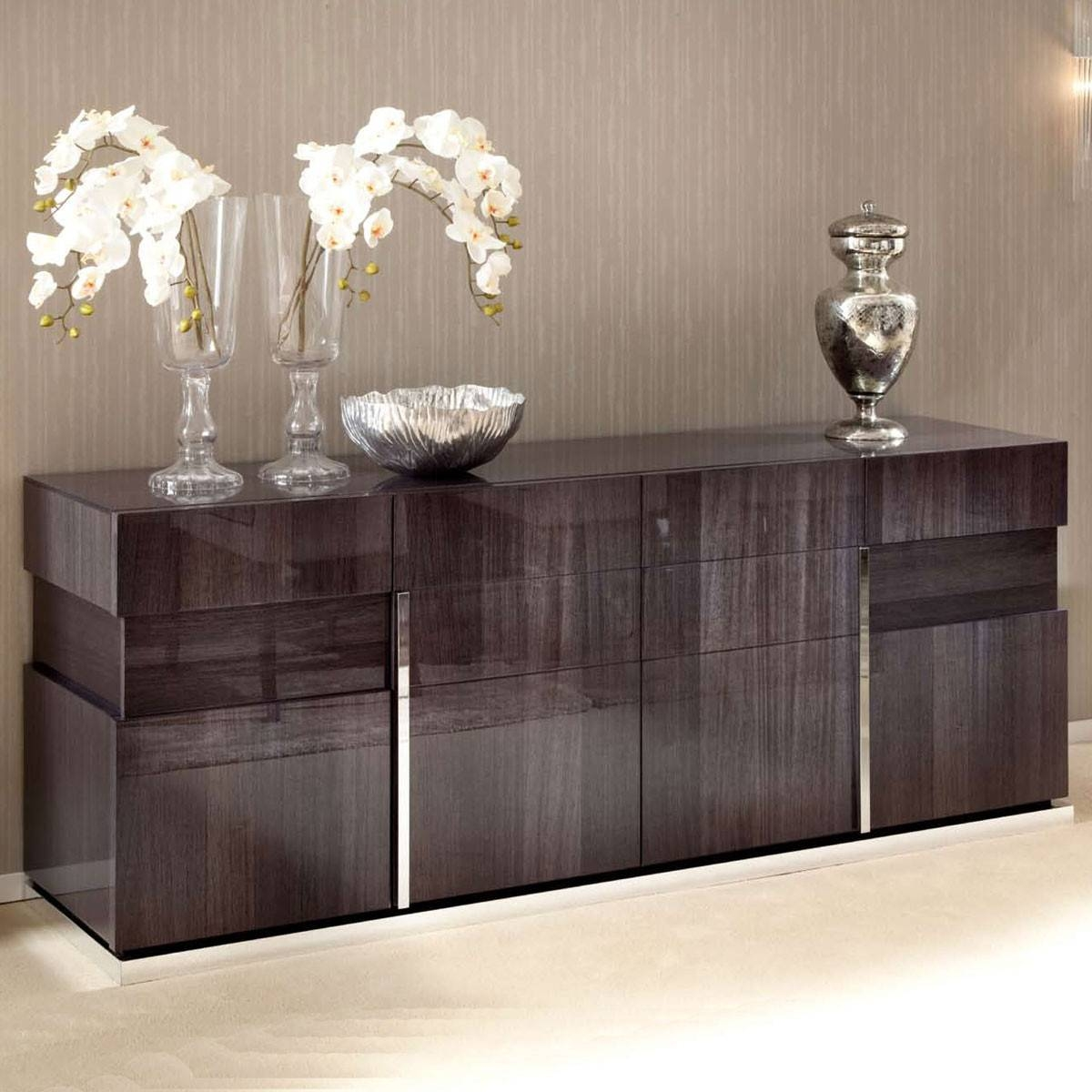 High Gloss 4 Door Sideboard with Red High Gloss Sideboards (Image 14 of 30)