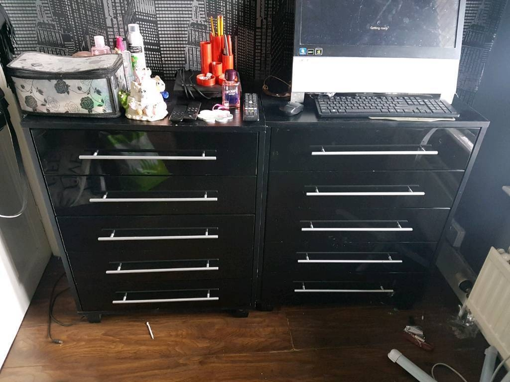 High Gloss Black Bedroom Furniture Wardrobes Drawers Carousel | In throughout High Gloss Black Wardrobes (Image 6 of 15)