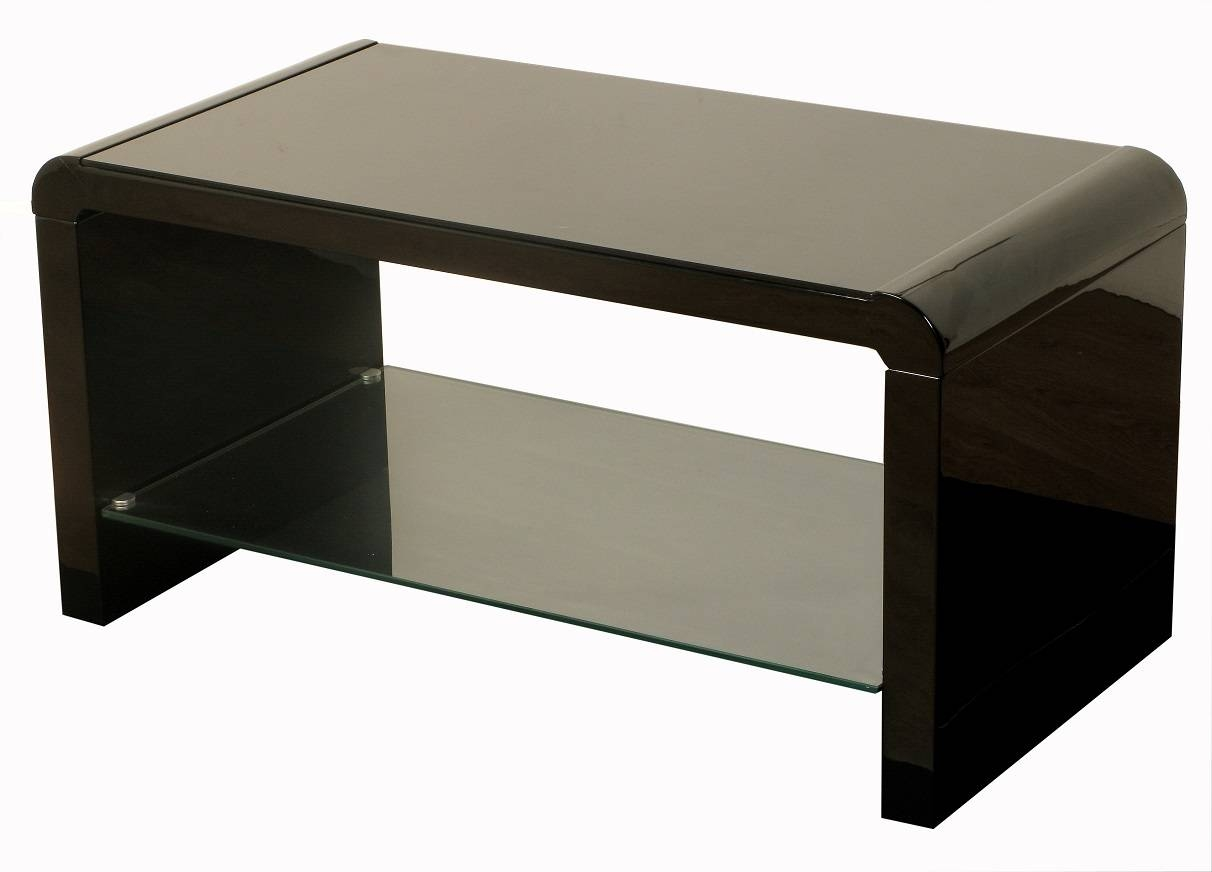 High Gloss Black Coffee Table / Coffee Tables / Thippo regarding White And Black Coffee Tables (Image 12 of 30)