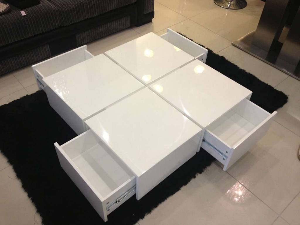 High Gloss Coffee Tables / Coffee Tables / Thippo intended for White High Gloss Coffee Tables (Image 13 of 30)