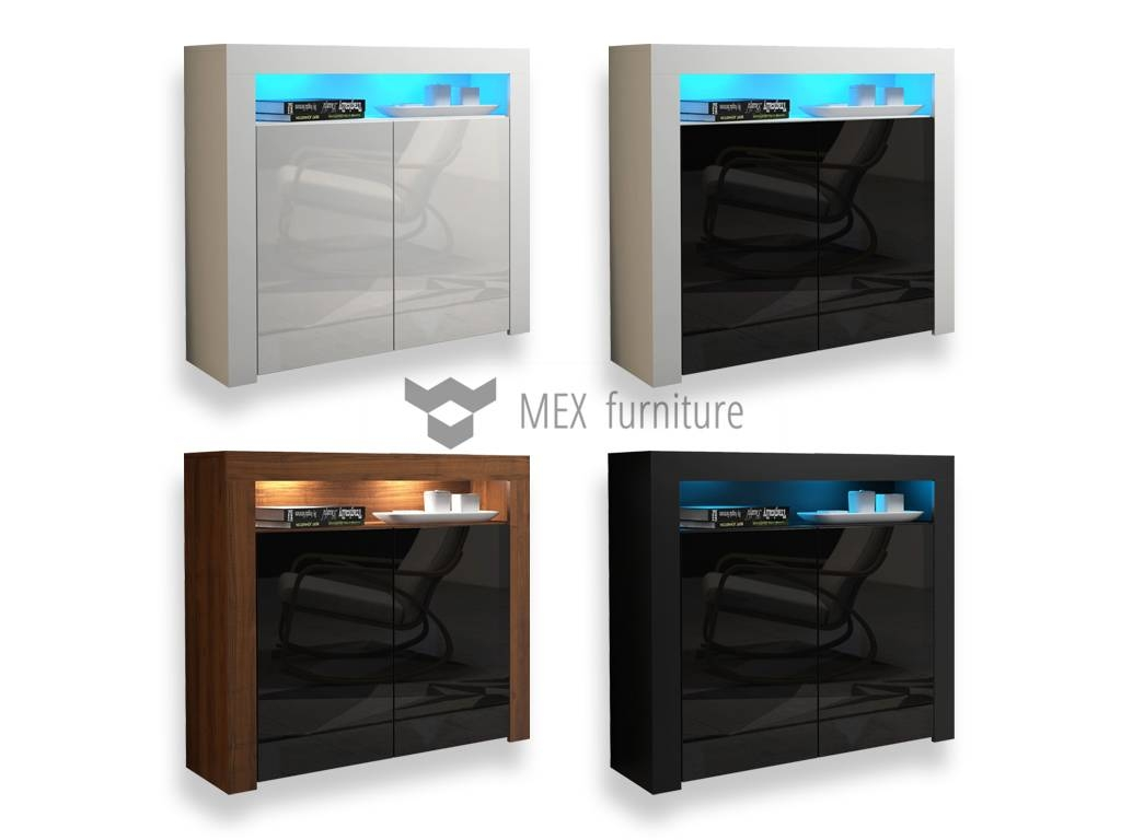 High Gloss Sideboard - Mex Furniture with regard to High Gloss Black Sideboards (Image 22 of 30)