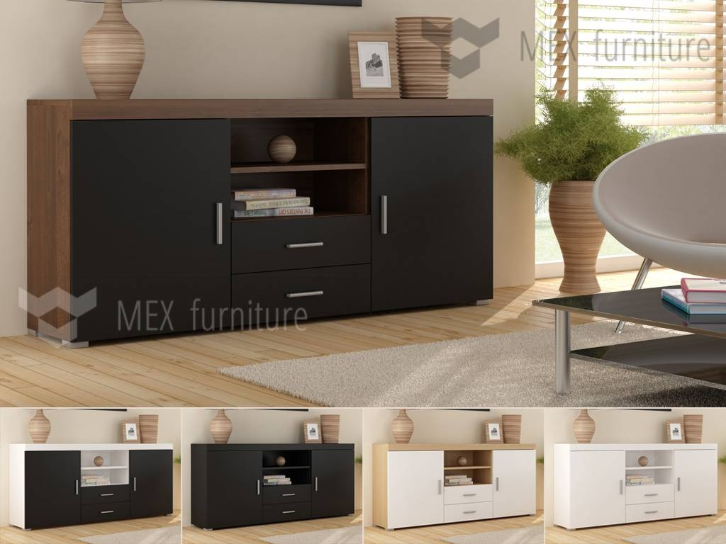 High Gloss Sideboard - Mex Furniture within High Gloss Black Sideboards (Image 23 of 30)