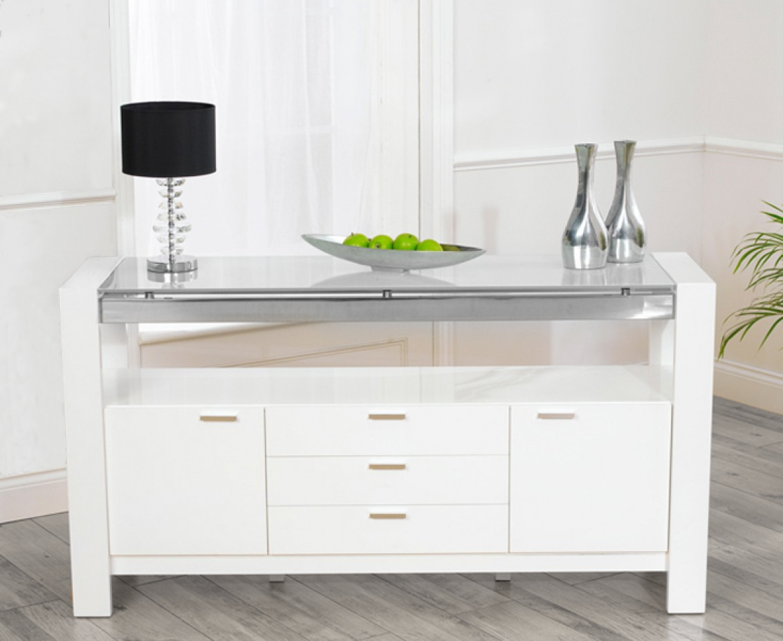 High Gloss Sideboards | White Gloss | Black Gloss | Gloss Units in Cheap White High Gloss Sideboards (Image 11 of 30)