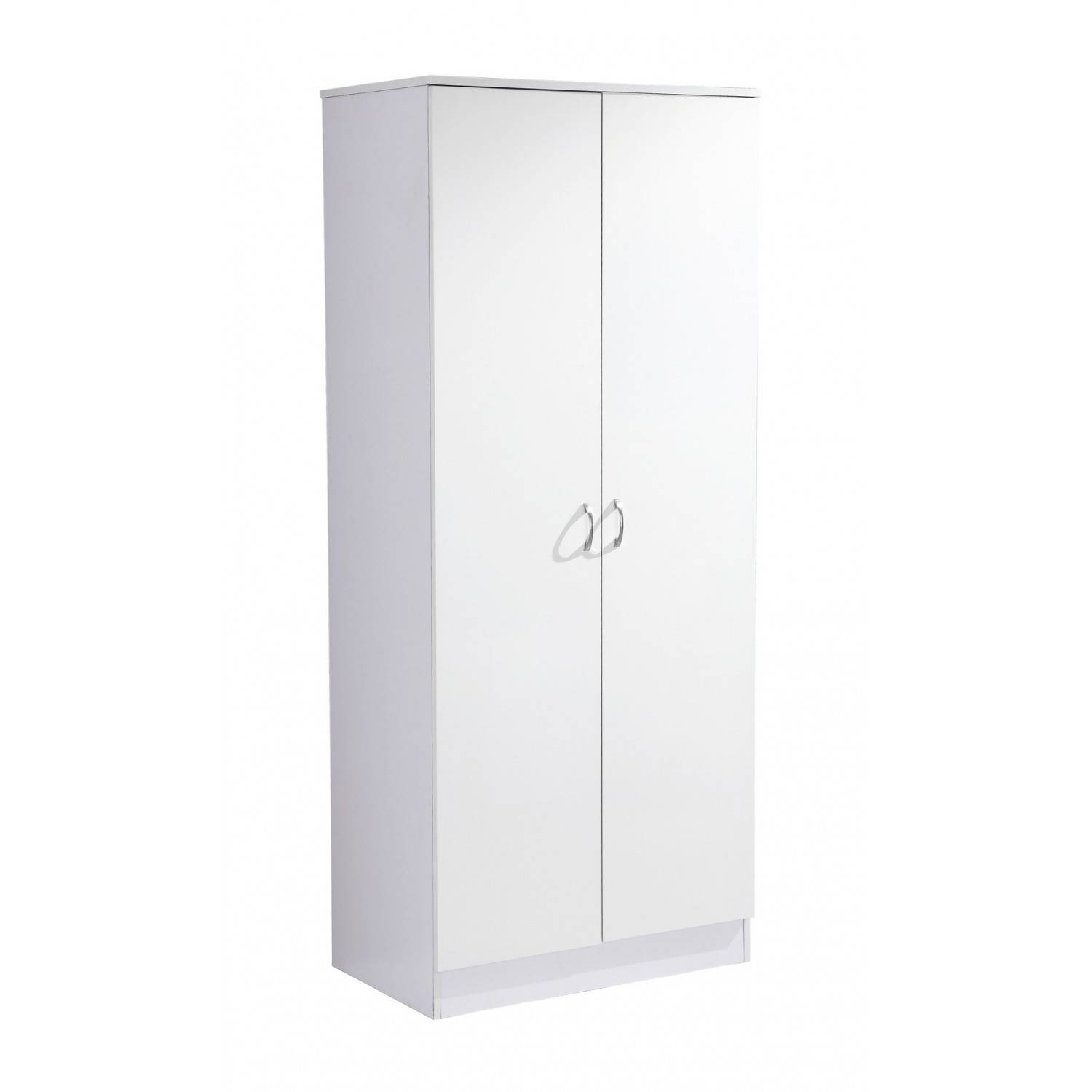 High Gloss Two Door Wardrobe In White On White intended for Two Door White Wardrobes (Image 4 of 15)