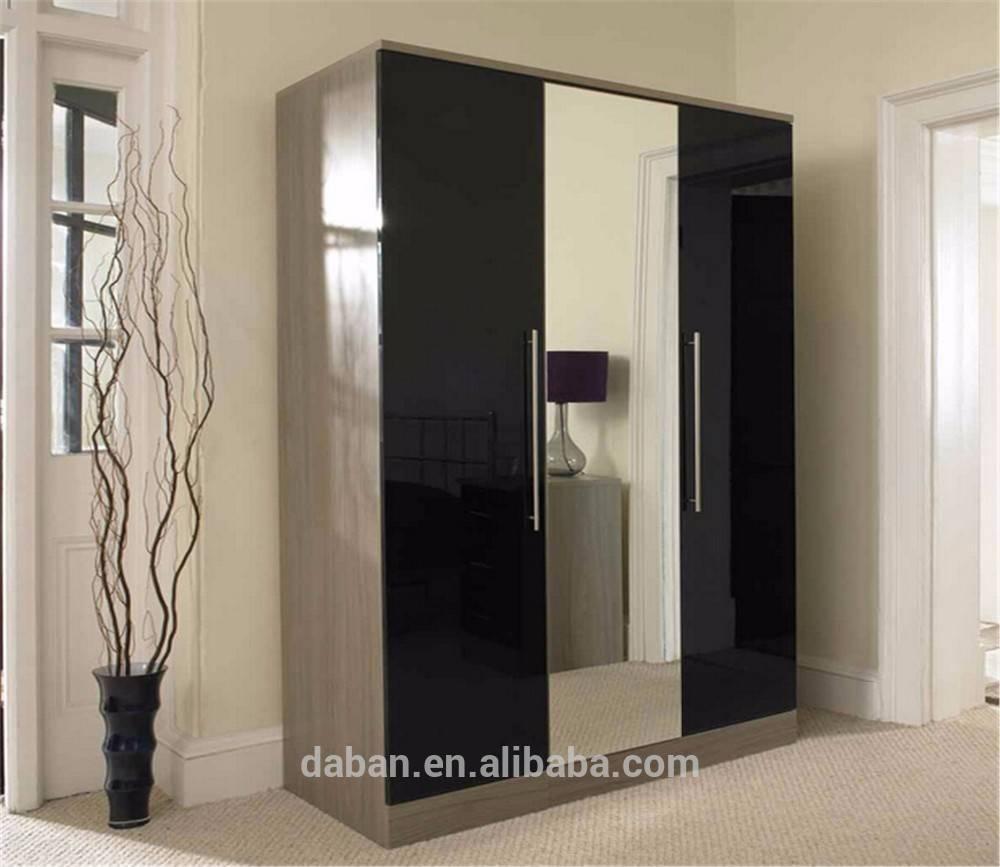 High Gloss Wardrobe Combination, High Gloss Wardrobe Combination with regard to Black Gloss 3 Door Wardrobes (Image 10 of 15)