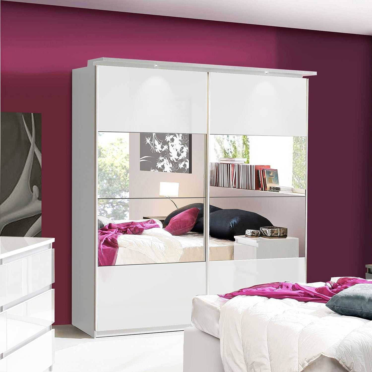 High Gloss White Wardrobe | Furniture Factor with Pink High Gloss Wardrobes (Image 5 of 15)