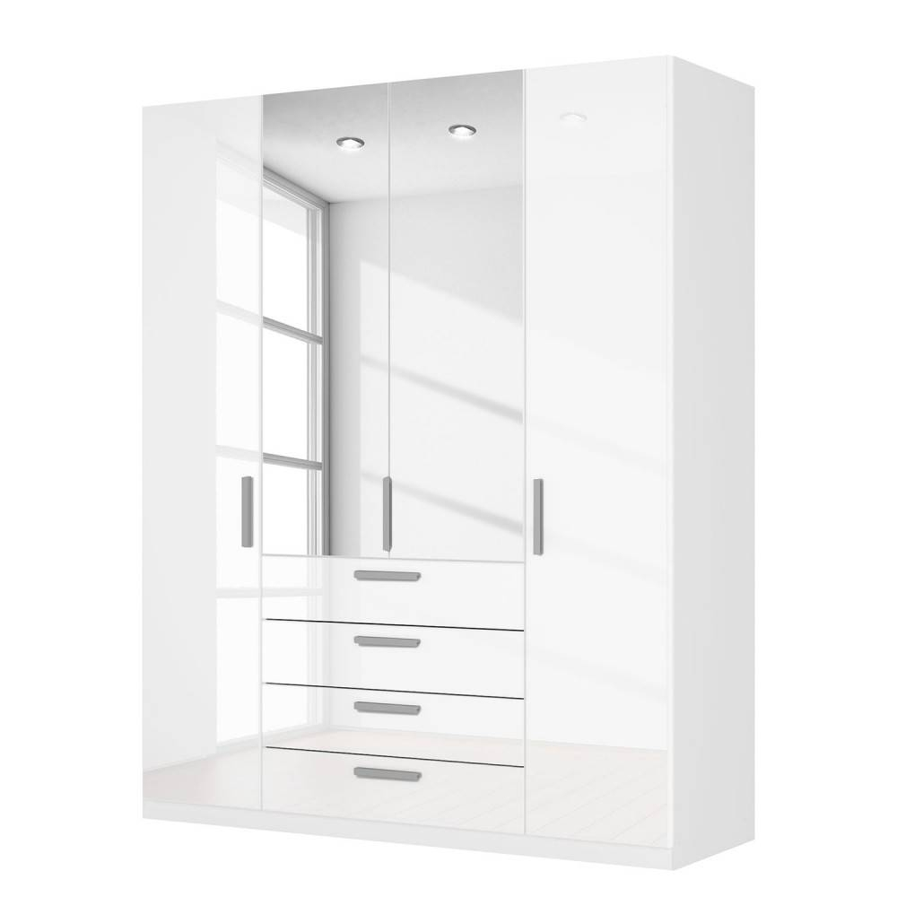High Gloss White Wardrobes With Drawers With Regard To Combi Wardrobes (View 10 of 15)