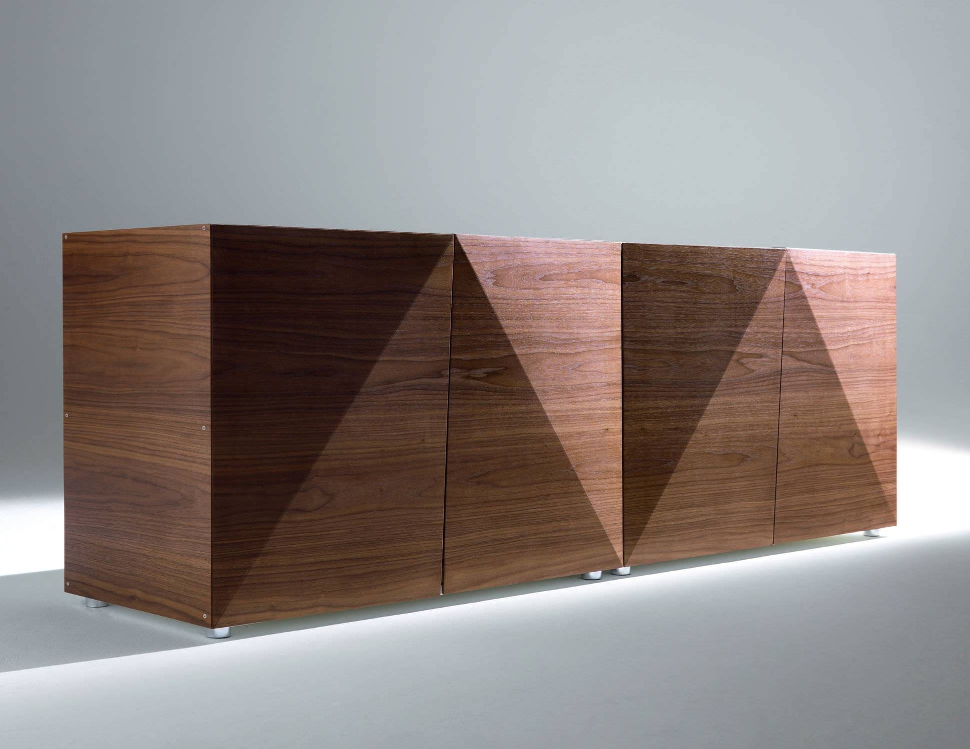 High Sideboard / Contemporary / Lacquered Wood / Walnut - Not with regard to Contemporary Wood Sideboards (Image 18 of 30)