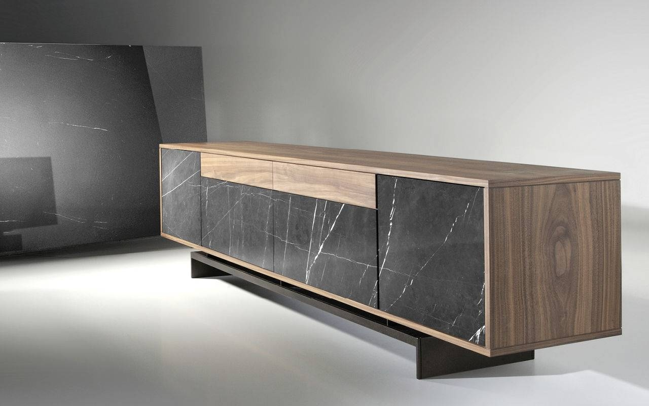 High Sideboard / Contemporary / Wooden / Lacquered Mdf - Grammi pertaining to Contemporary Wood Sideboards (Image 20 of 30)