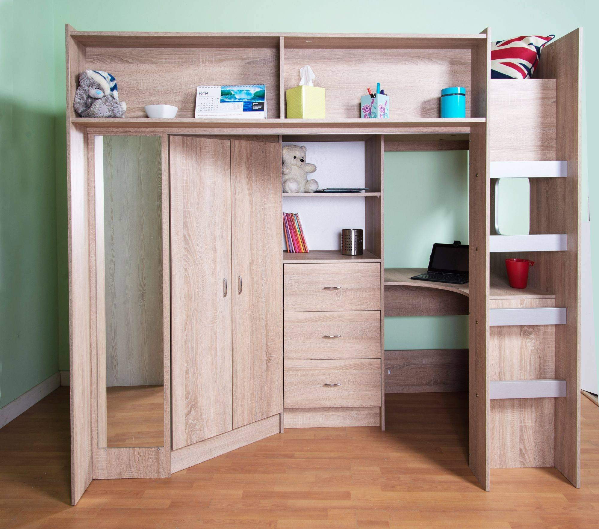 High Sleeper And High Cabin Beds for High Sleeper Wardrobes (Image 5 of 15)