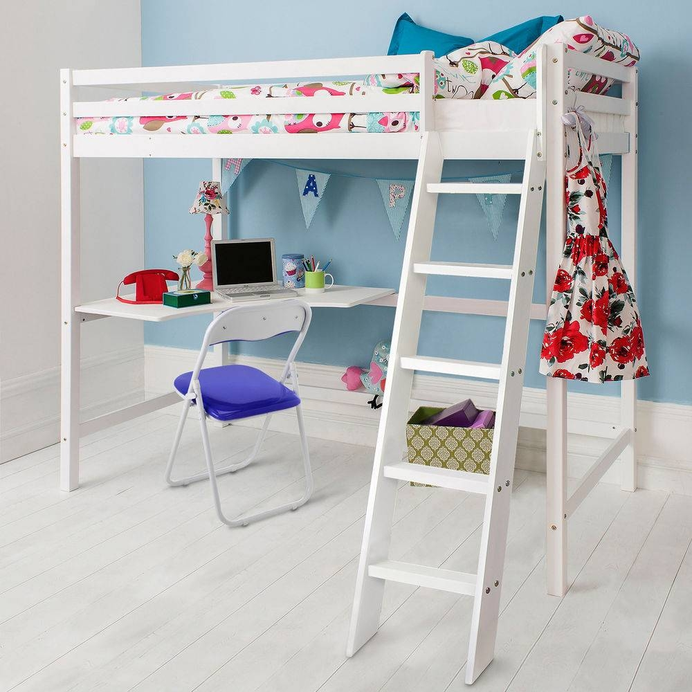 High Sleeper Bed | Ebay in High Sleeper With Desk and Sofa (Image 13 of 30)