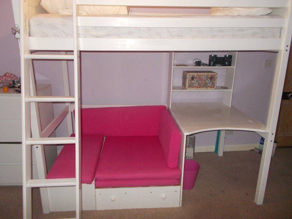 High Sleeper Bed With Desk And Sofa Bed Underneath | In for High Sleeper With Sofa And Desk (Image 7 of 25)