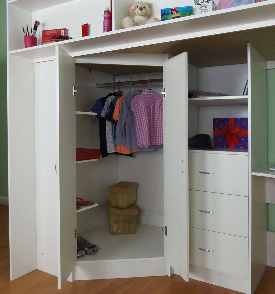 High Sleeper Cabin Bed regarding Kids Cabin Beds With Wardrobes (Image 6 of 15)