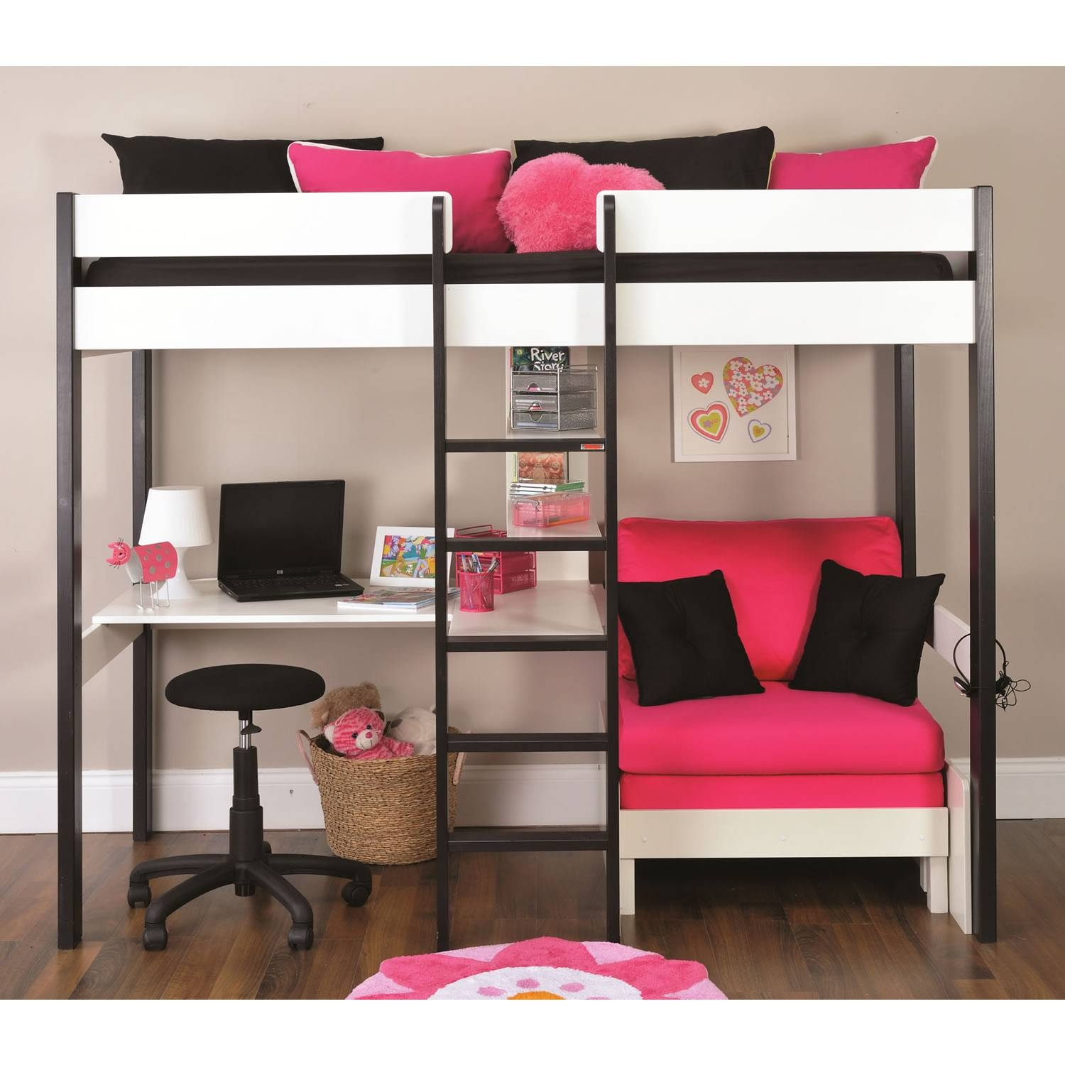 High Sleeper With Desk And Sofa Bed - Ansugallery within High Sleeper With Desk and Sofa (Image 15 of 30)