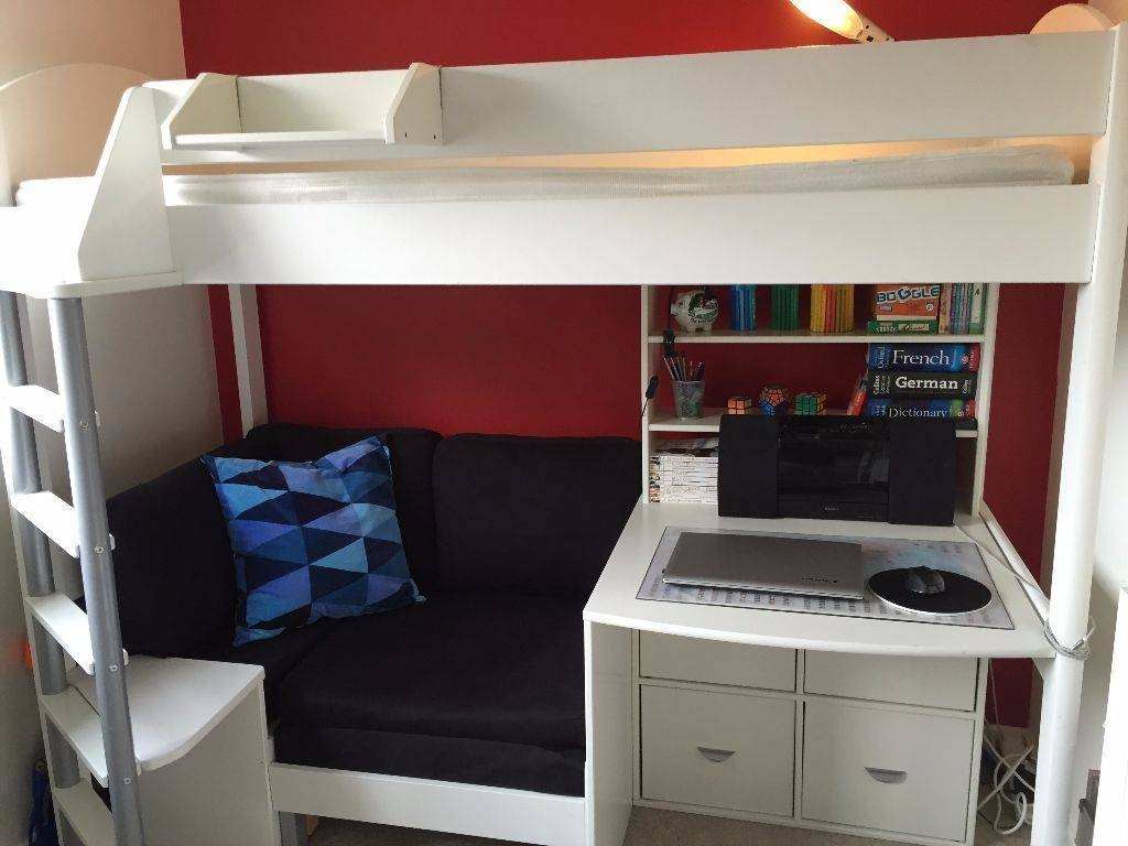 High Sleeper With Sofa Bed & Pull Out Desk - Tourdecarroll inside High Sleeper With Sofa And Desk (Image 15 of 25)