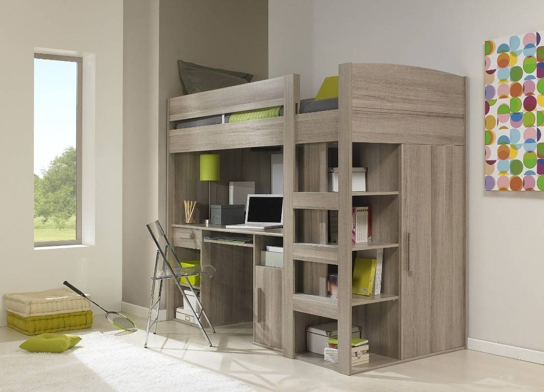 High Sleepers | Loft Beds | Wooden Loft Beds for High Sleeper With Wardrobes And Desk (Image 11 of 15)