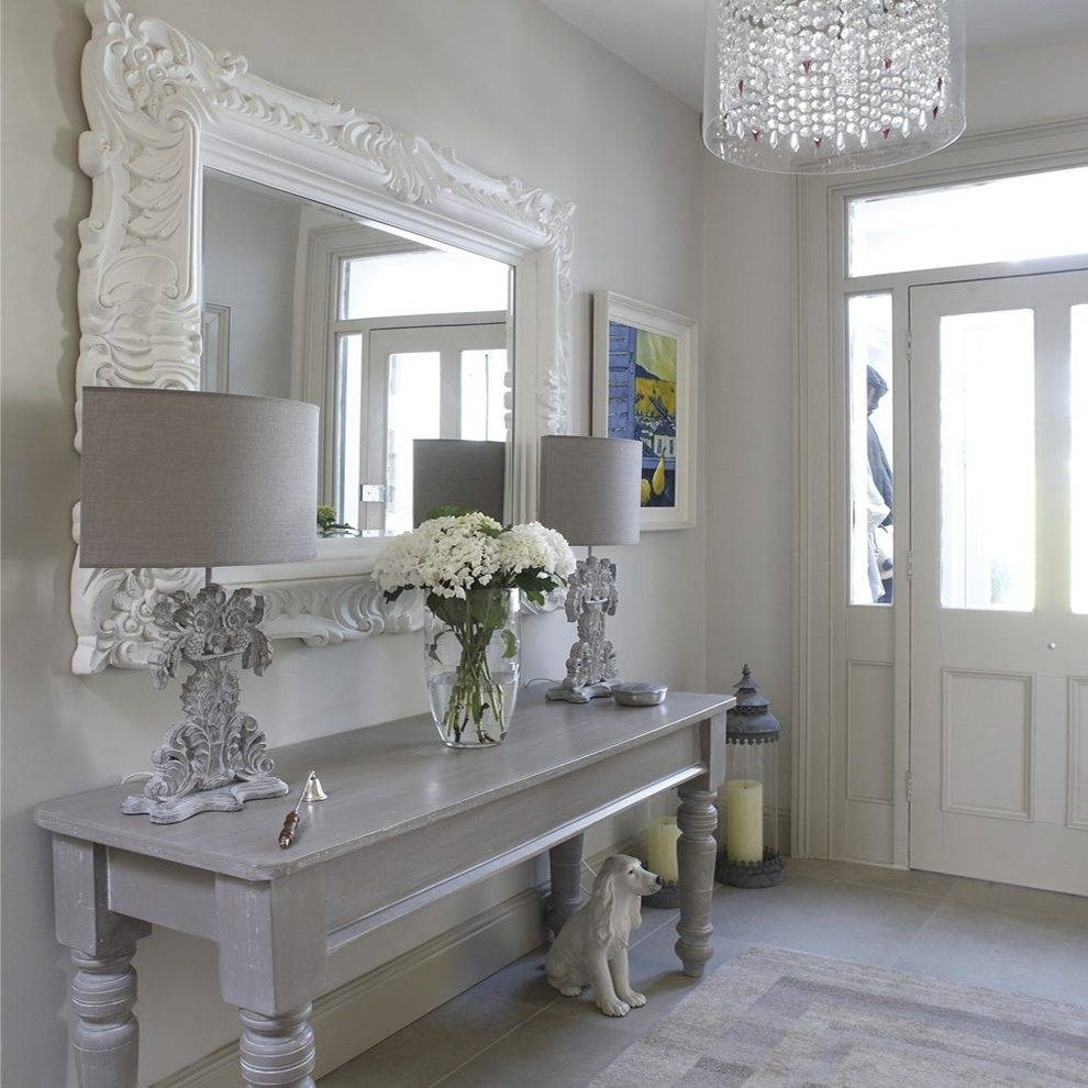 Hobby Lobby Mirrors Hallway Landing Shabby Chic Style With intended for Large Shabby Chic Mirrors (Image 8 of 25)