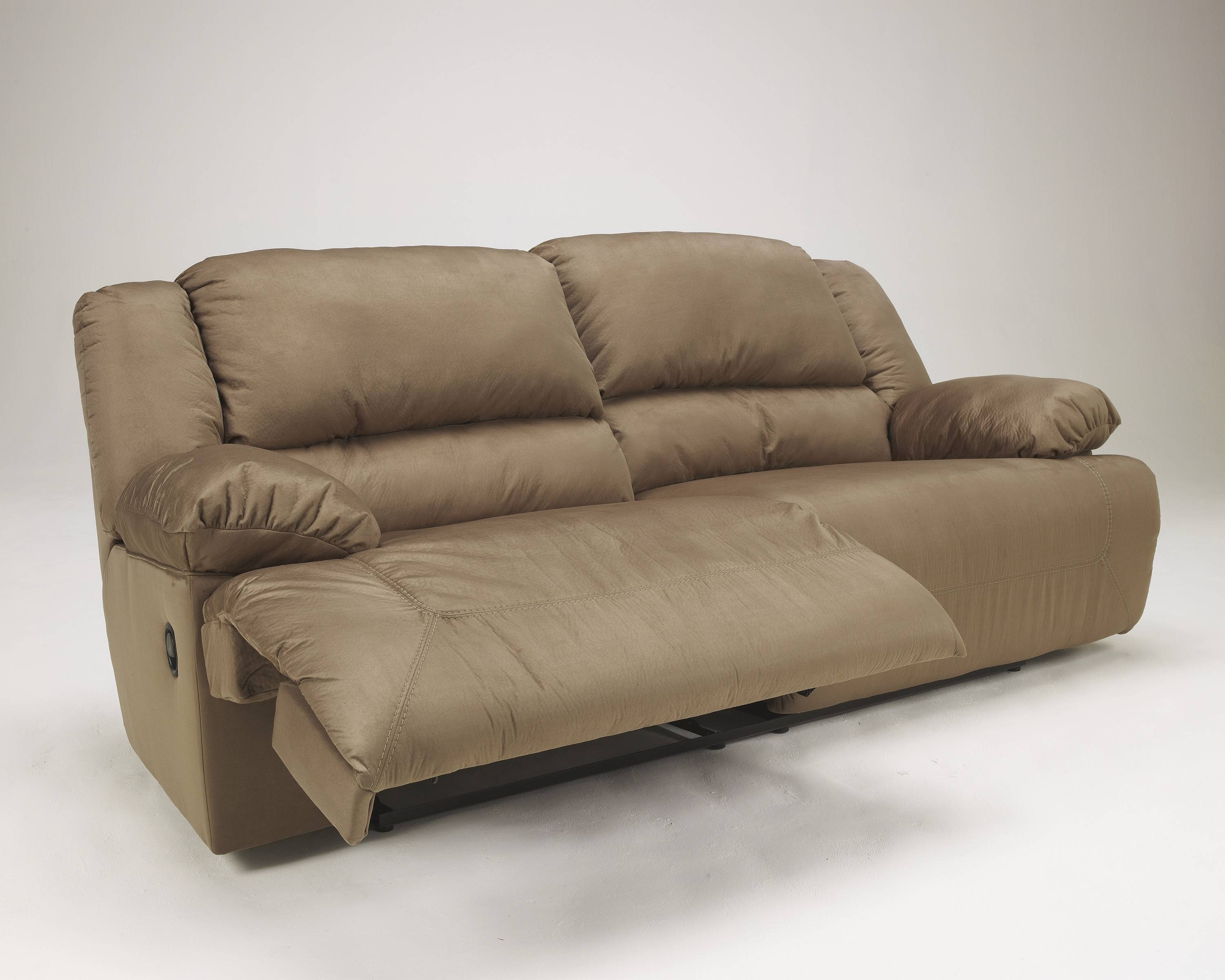 Hogan Contemporary Mocha 2- Seat Reclining Sofa | Living Rooms for Recliner Sofa Chairs (Image 16 of 30)